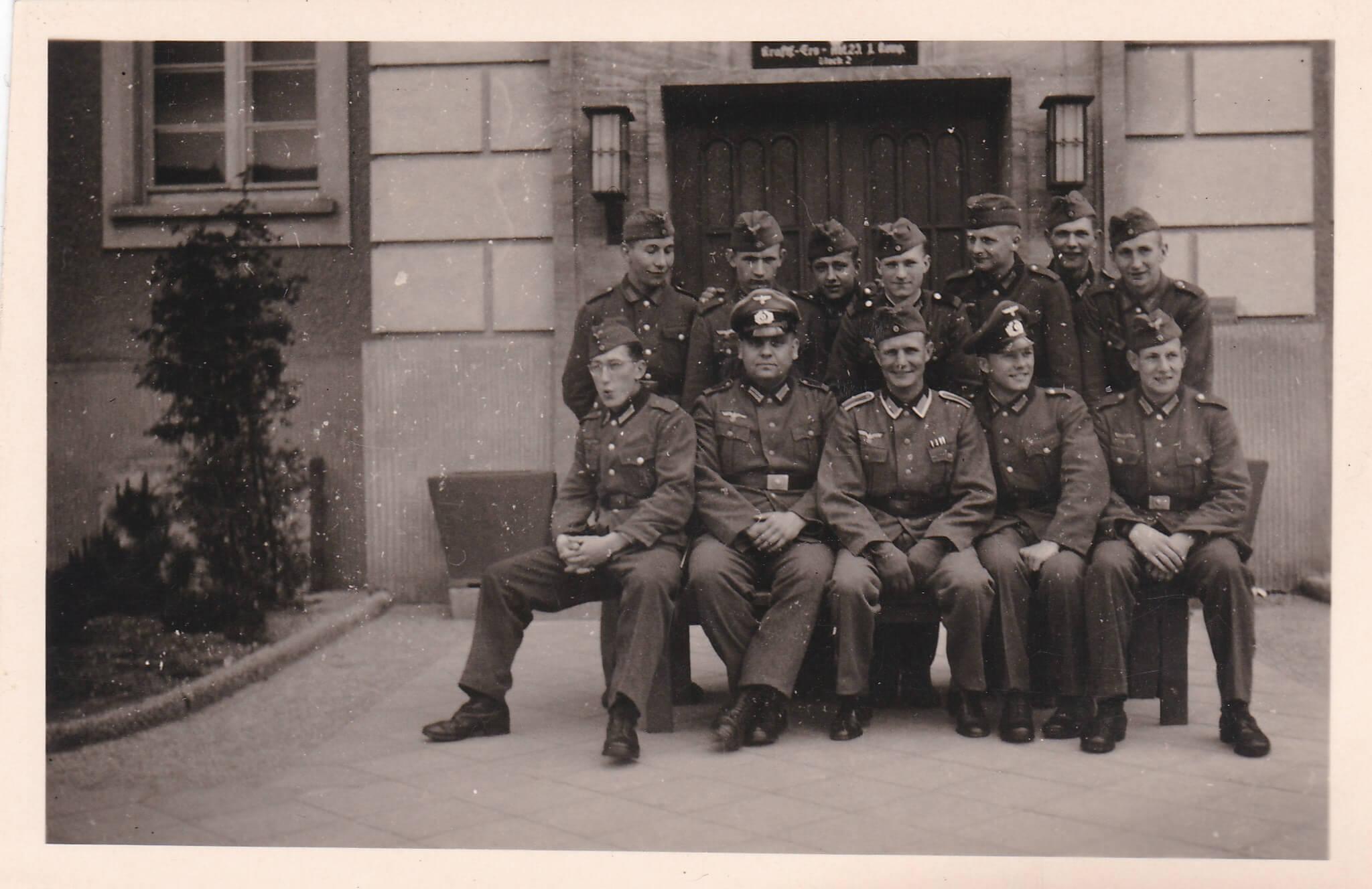 Groepje Wehrmacht soldaten wo2