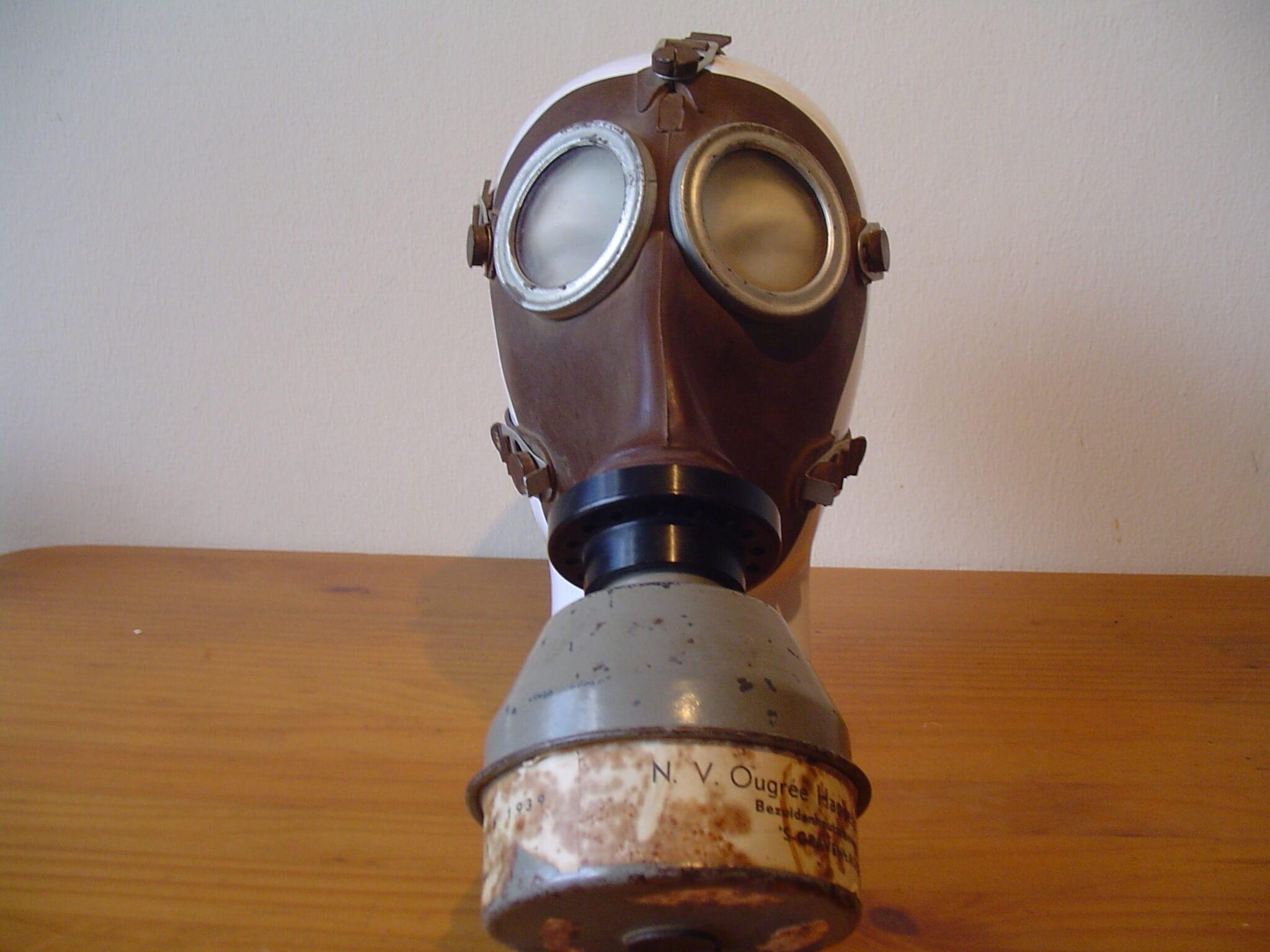 Nederlands gasmasker wo2 tweede wereldoorlog