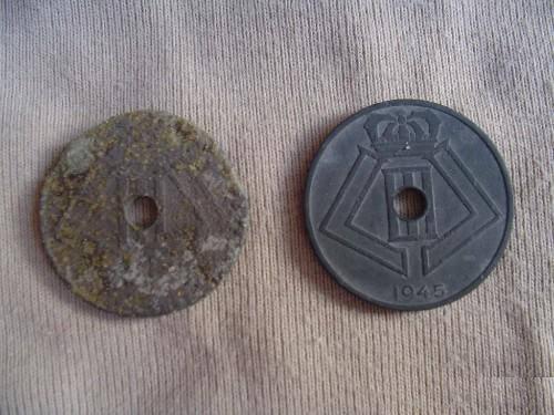 Belgisch oorlogs muntje Wo2