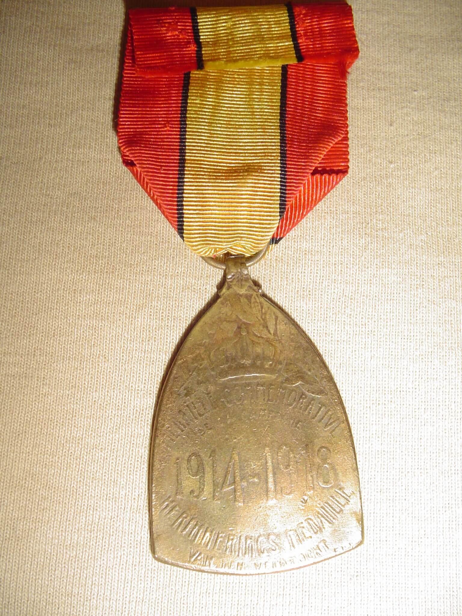 Wo1 Oorlogsherinnerings medaille 1914-1918 Belgie eerste wereldoorlog