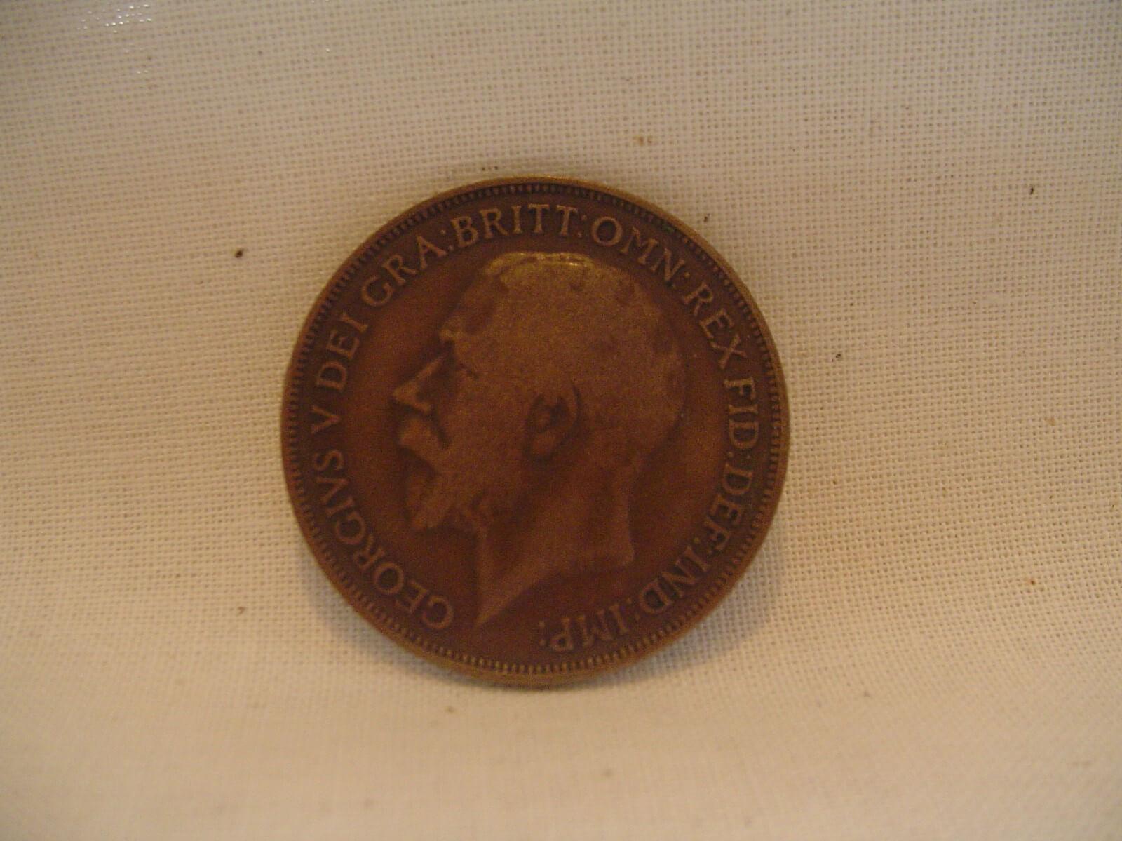 Britse Penny 1915 uit de eerste wereldoorlog wo1