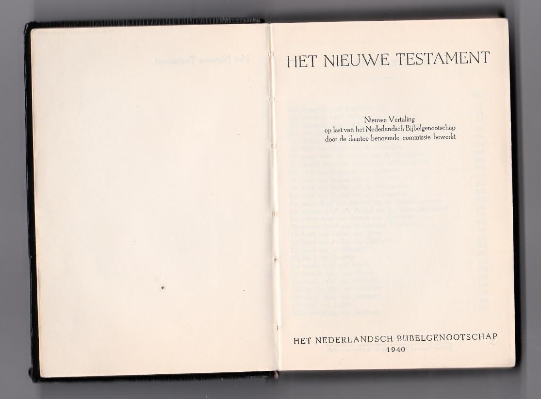 Het nieuwe testament 1940
