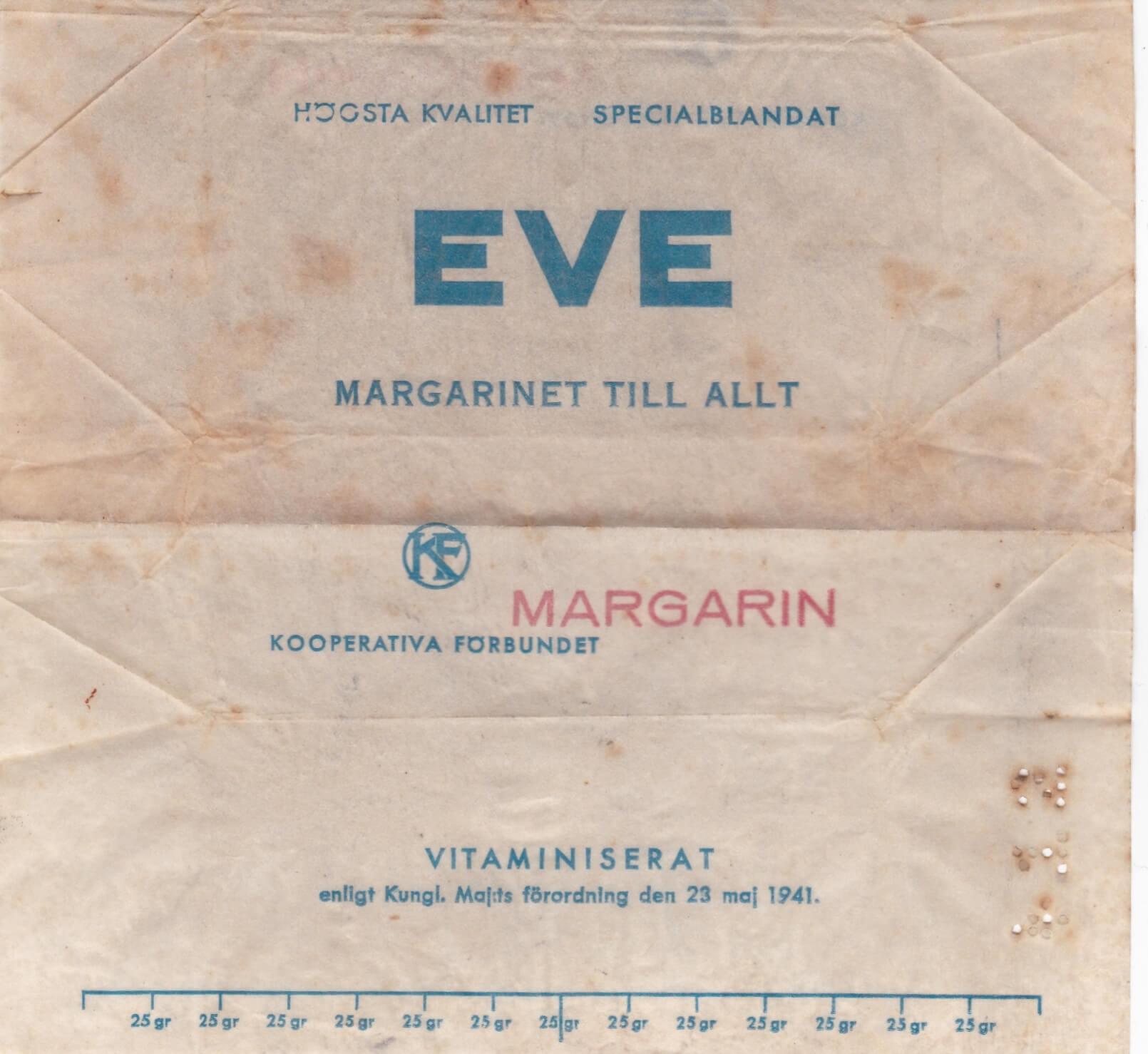 Zweeds margarine wikkel uit de hongerwinter