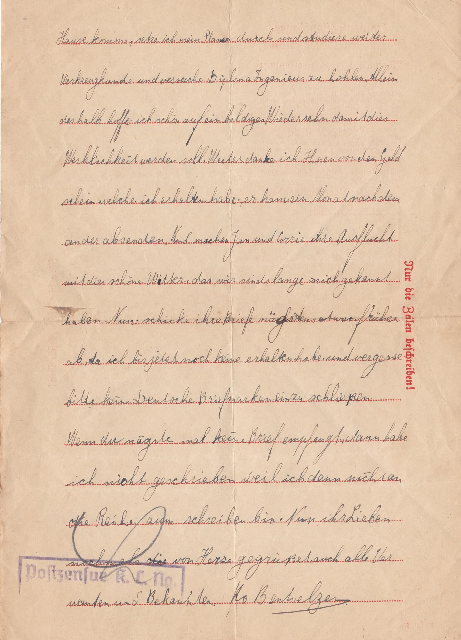 brieven uit concentratiekamp Neuengamme