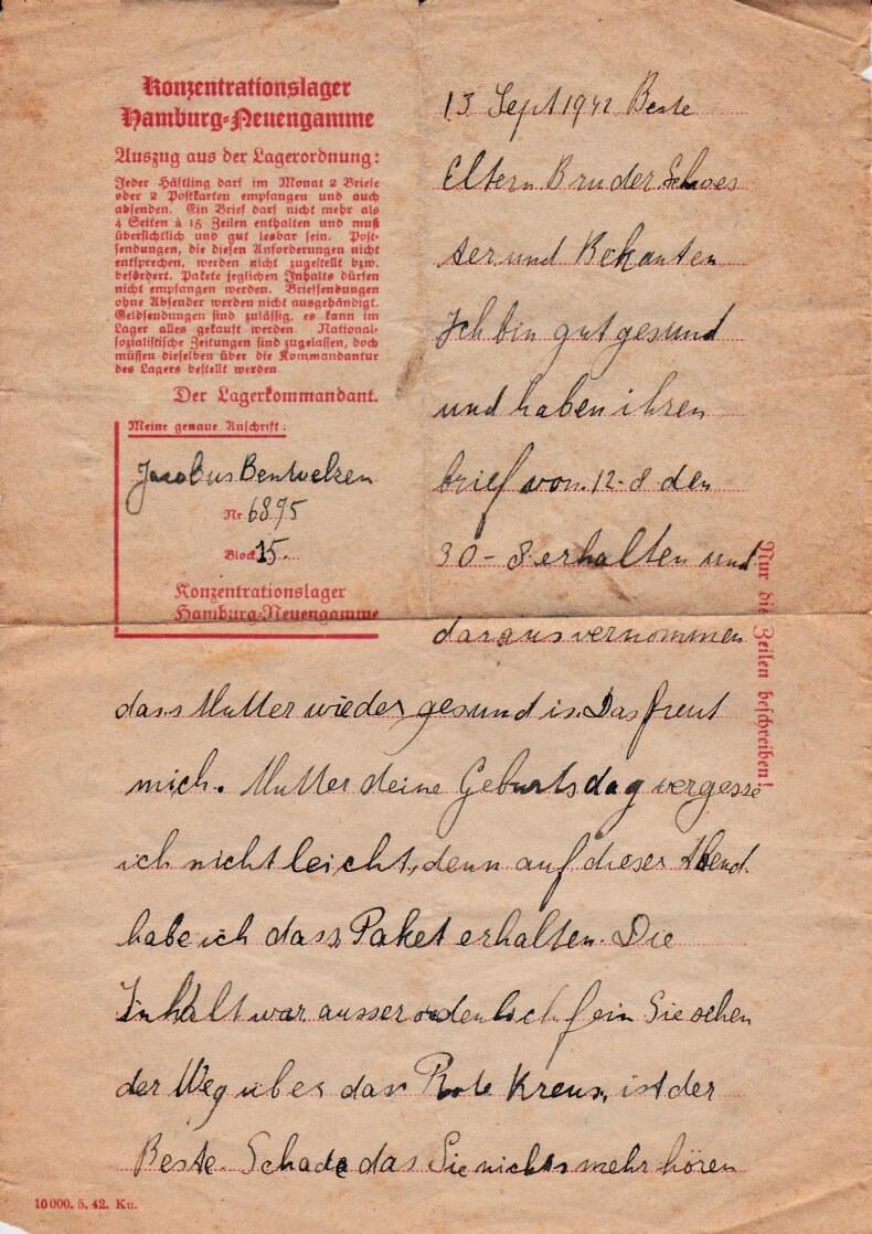 KZ Neuengamme rode kruis