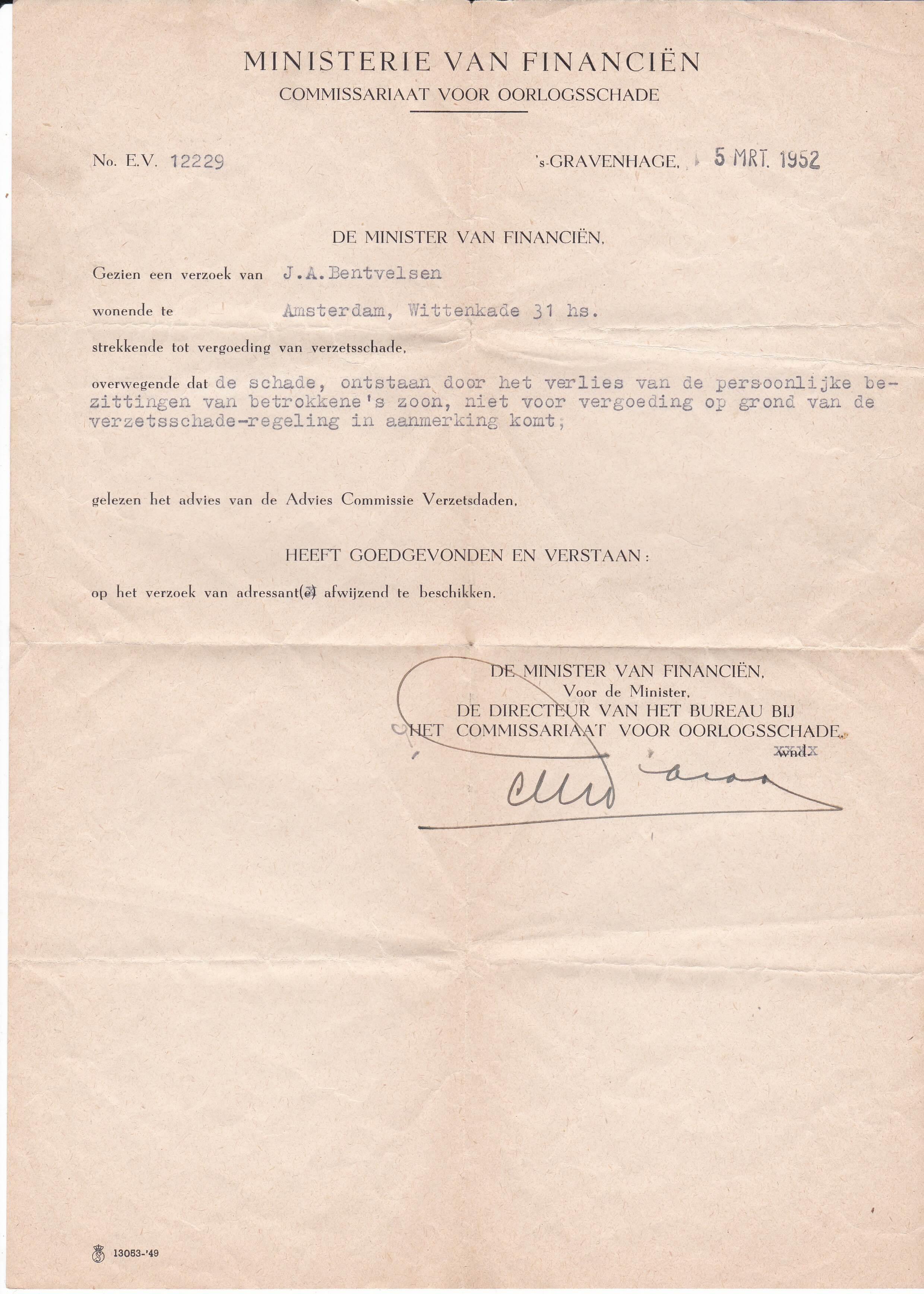 Commissariaat voor oorlogsschade tweede wereldoorlog