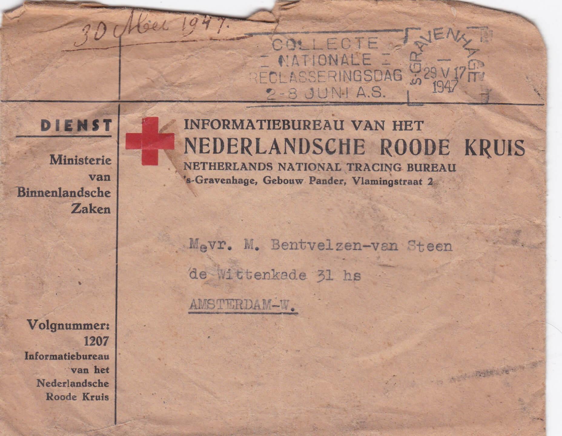Nederlandsche roode kruis wo2 Concentratiekamp KZ lager