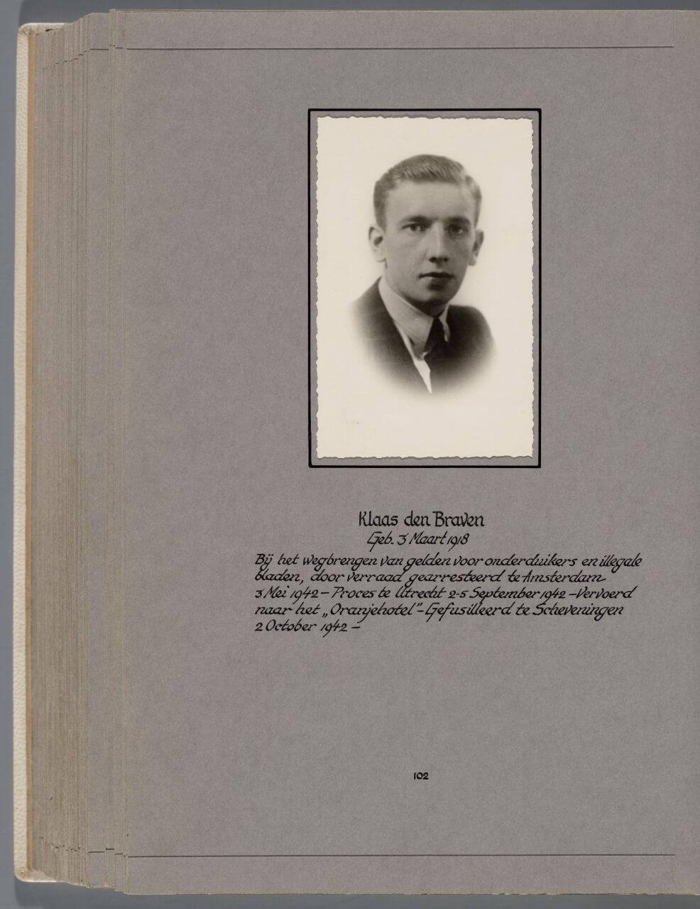 Doodenboek Klaas den Braven Waalsdorpervlakte
