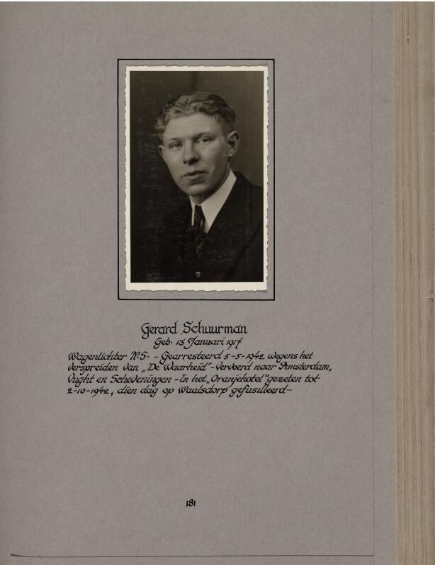 Doodenboek Gerard Schuurman Oranjehotel Waalsdorpervlakte