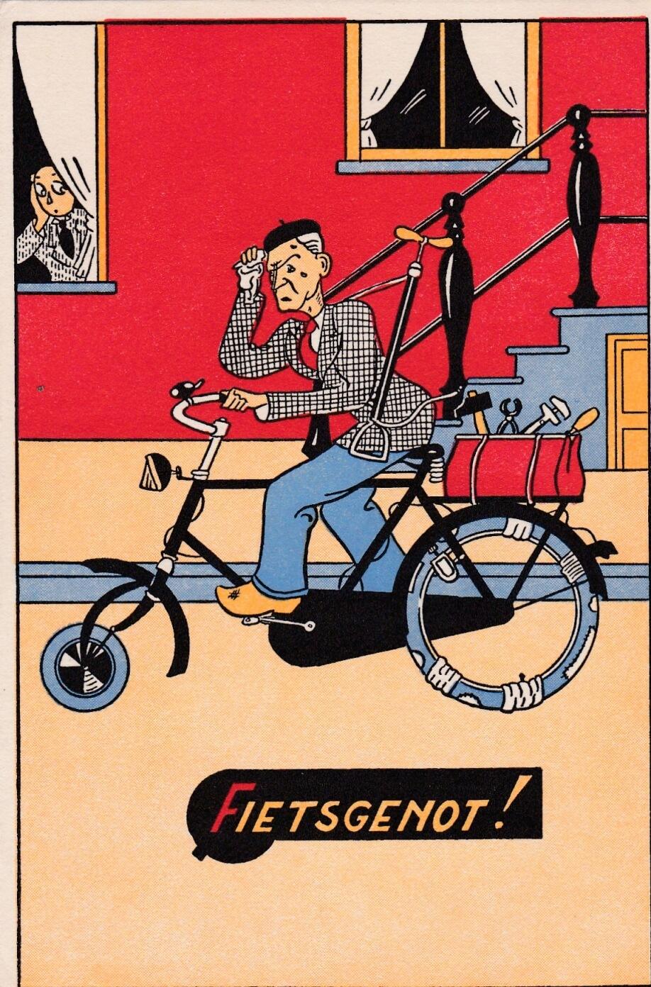Spotprent fiets fietsgenot wo2
