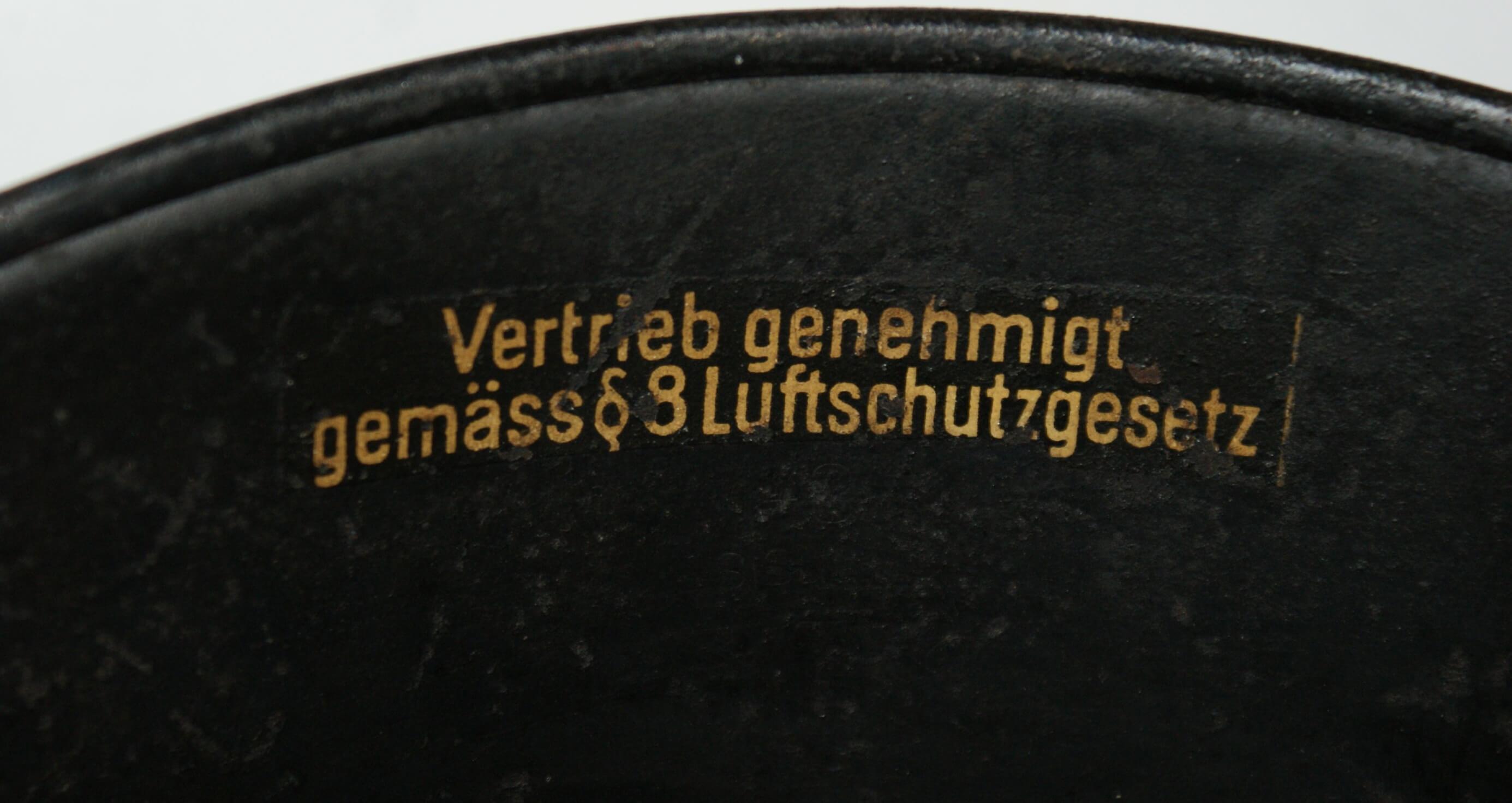 Duitse helm wo2 Luftschutz Gesetz