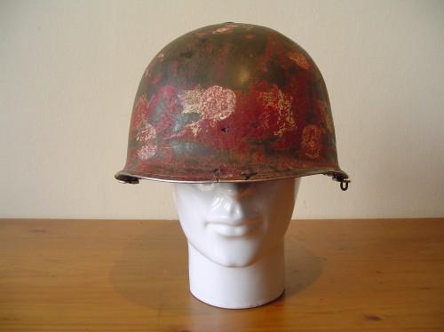 Amerikaanse helm M1 uit de tweede wereldoorlog wo2