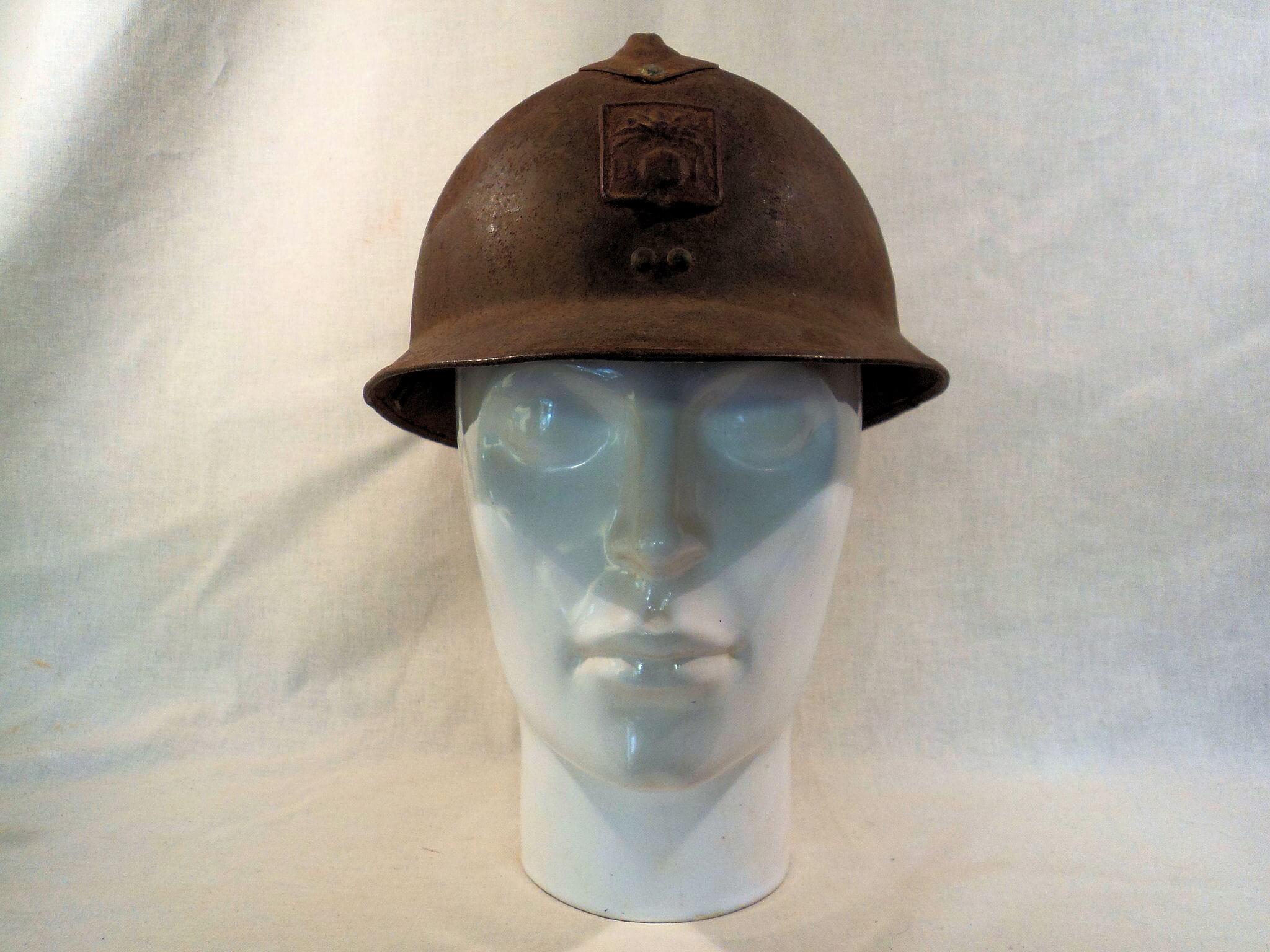 Franse helm burgerbescherming uit de tweede wereldoorlog