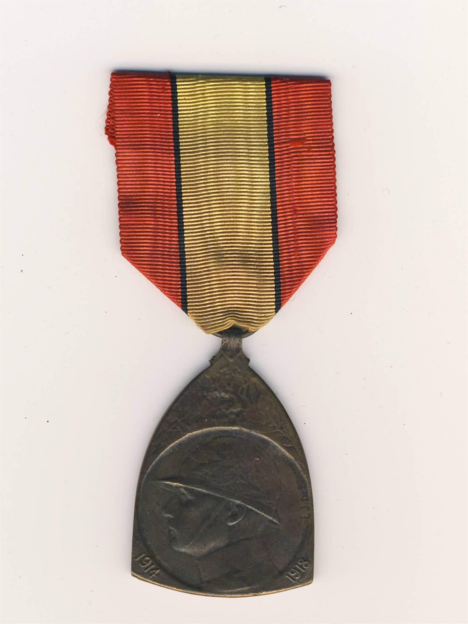 Belgische herinnerings medaille eerste wereldoorlog wo1