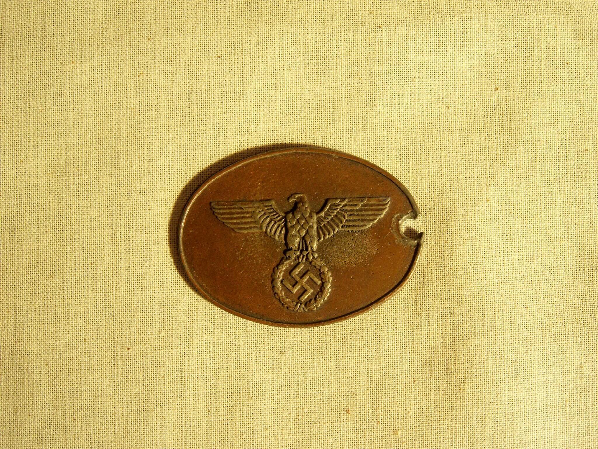 Duits indentificatie plaatje kriminalpolizei kripo wo2 ID dogtagg tweede wereldoorlog
