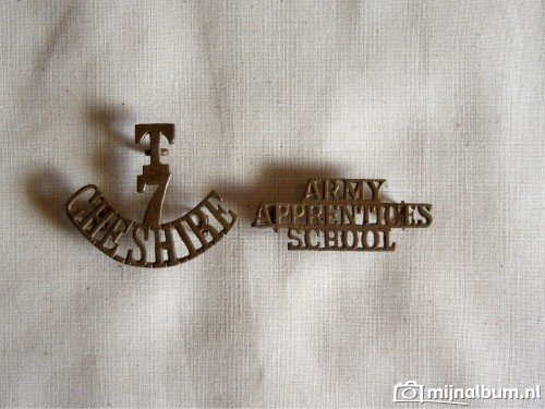 WW2 T7 Cheshire insigne and Army Aprentices School insignia wo2
