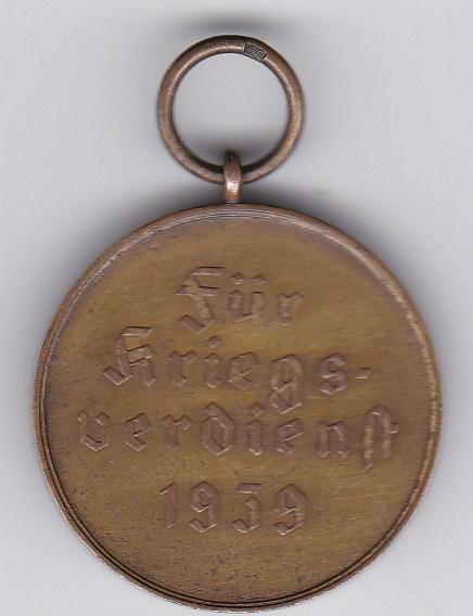 Medaille Für Kriegsverdienst 1939