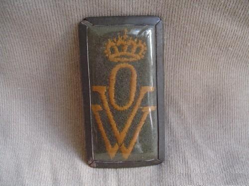 KNIL Mouwembleem oorlogs vrijwilligers Nederlands Indie K.N.I.L. OVW