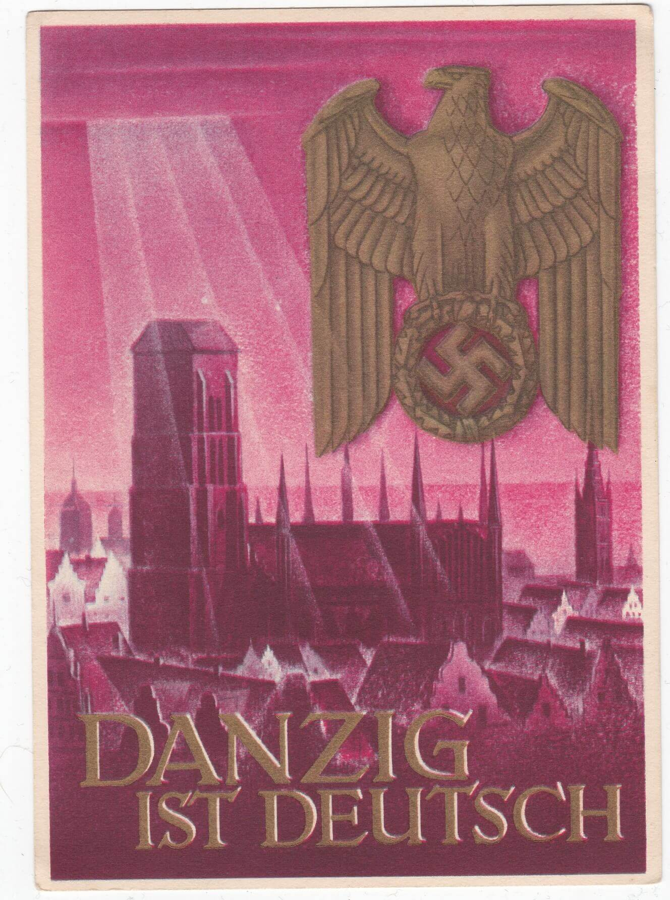Postkaart Danzig ist Deutsch