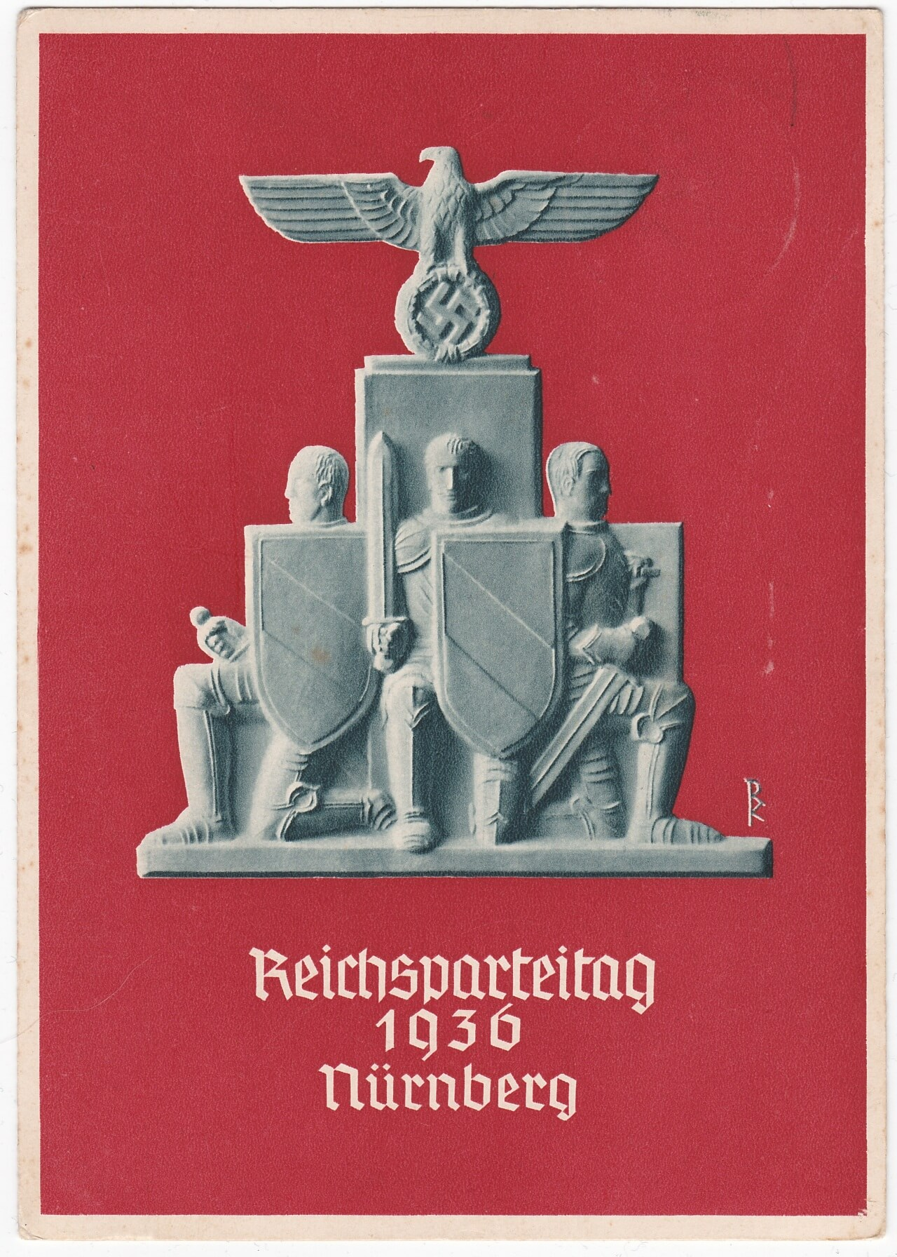 postkaart reichsparteitag 1936 nurnberg
