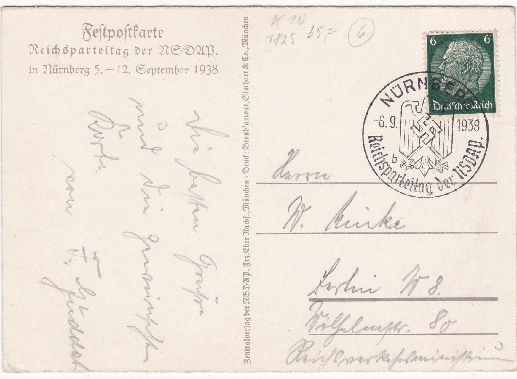 reichsparteitag karte september 1938