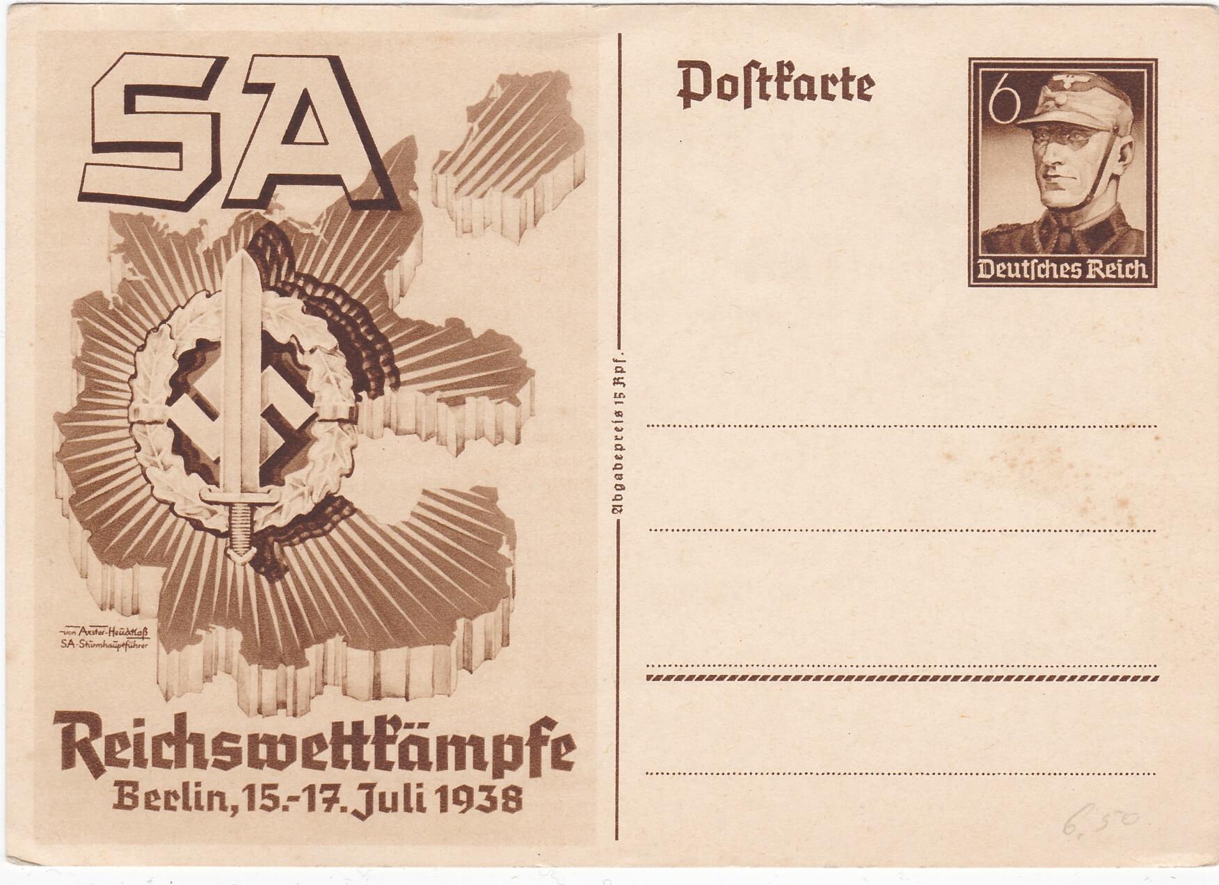 S.A. Reichswettkampfe Berlin 1938