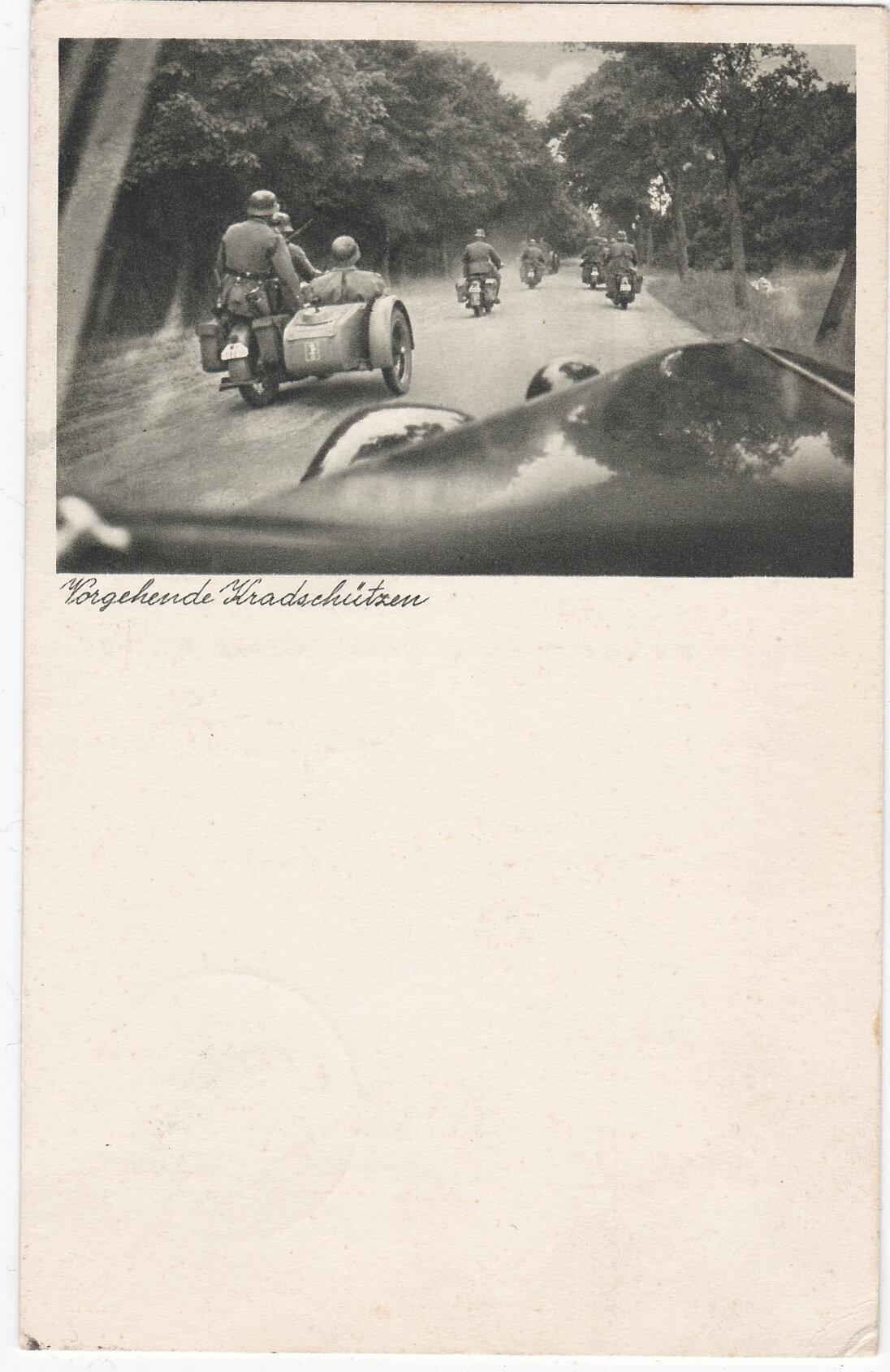 Postkaart vorgehende kradschutzen