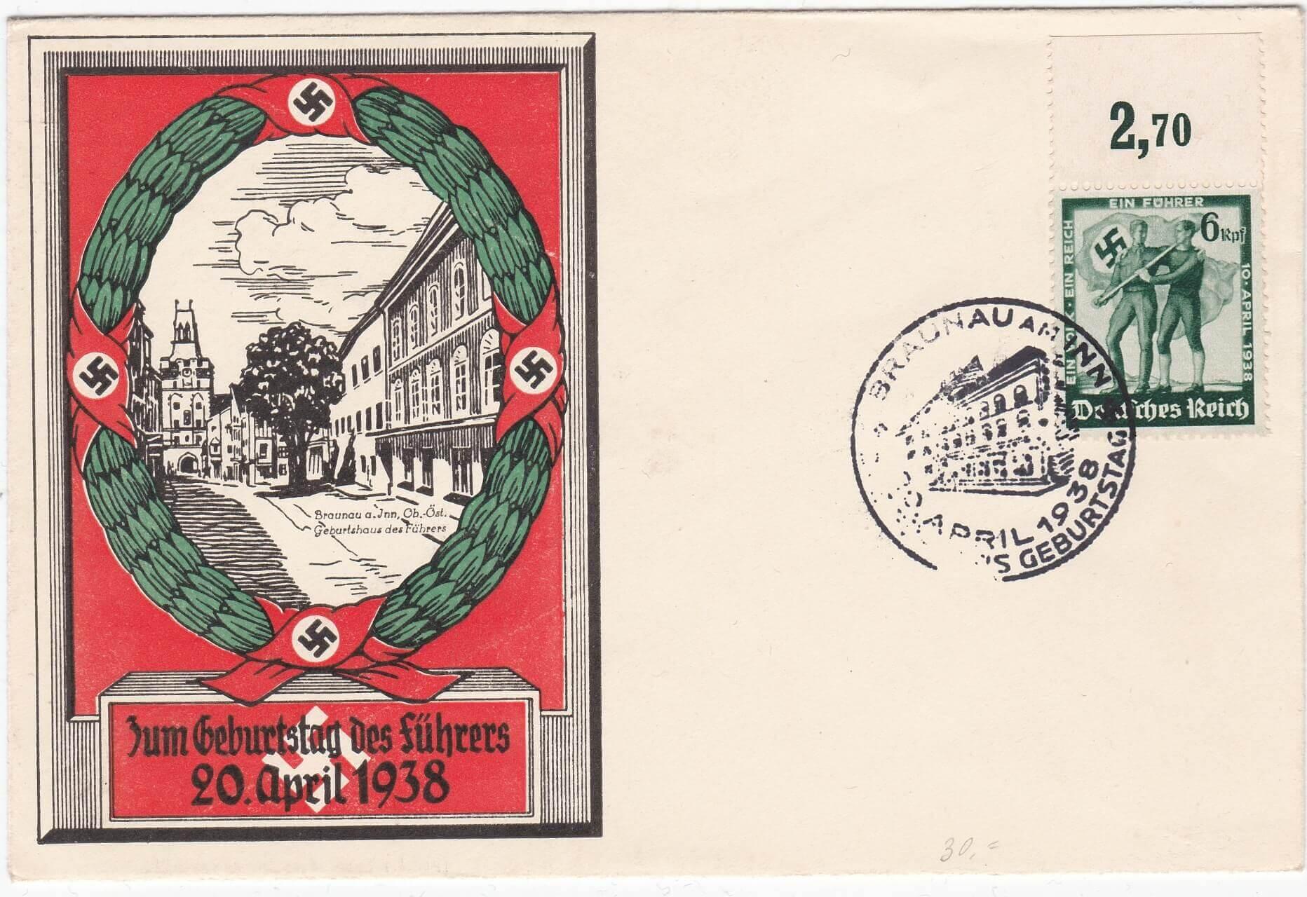 Zum geburtstag des Fuhrers 1938 Braunau