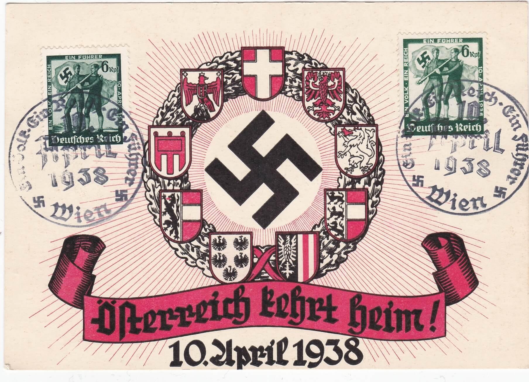 Postkaart Osterreich kehrt Heim