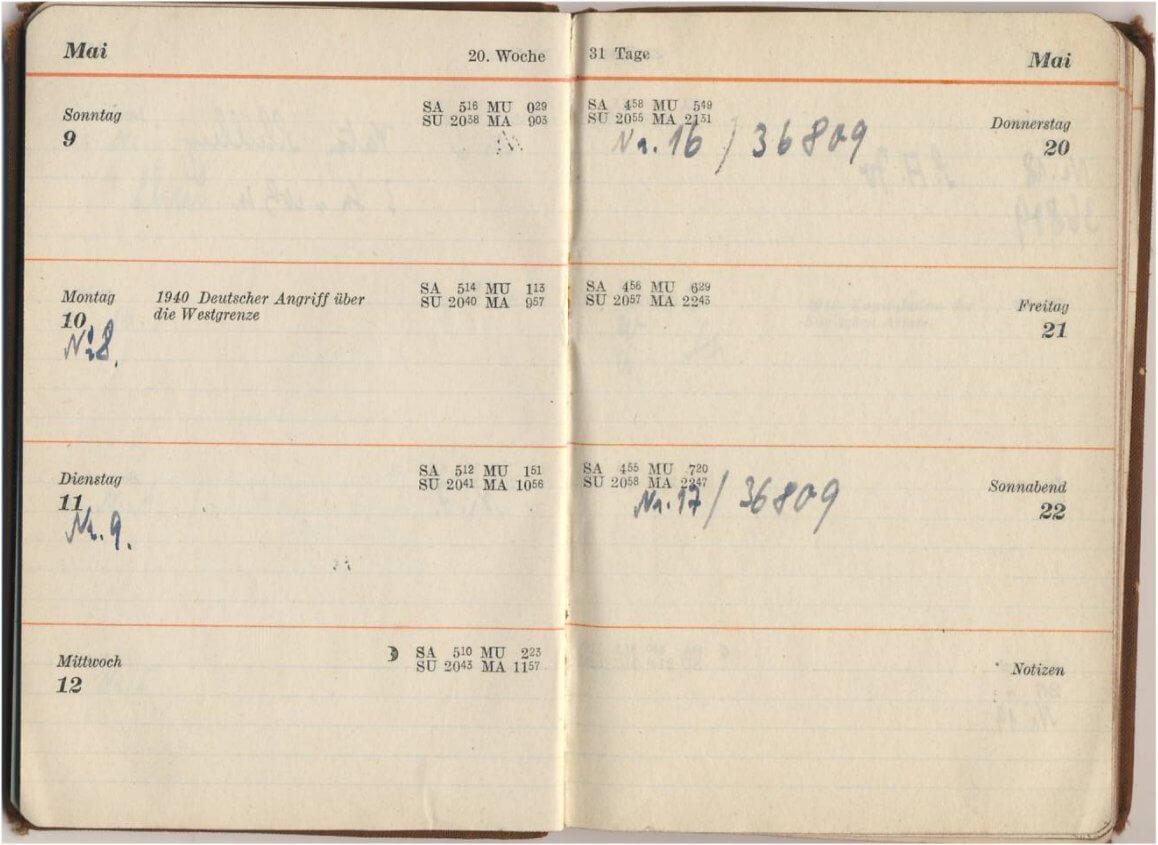 Agenda Duitse soldaat 1943 uit de tweede wereldoorlog