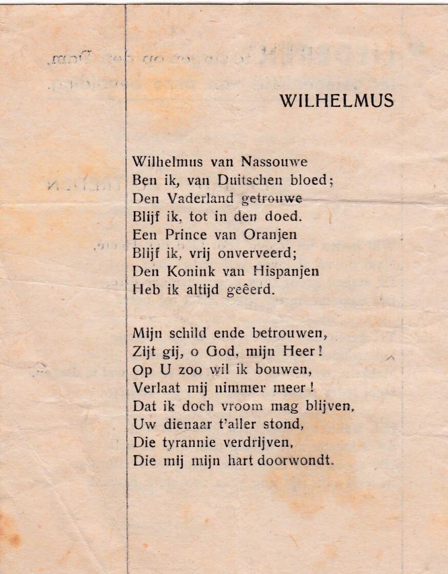 Het Wilhelmus bevrijding 1945
