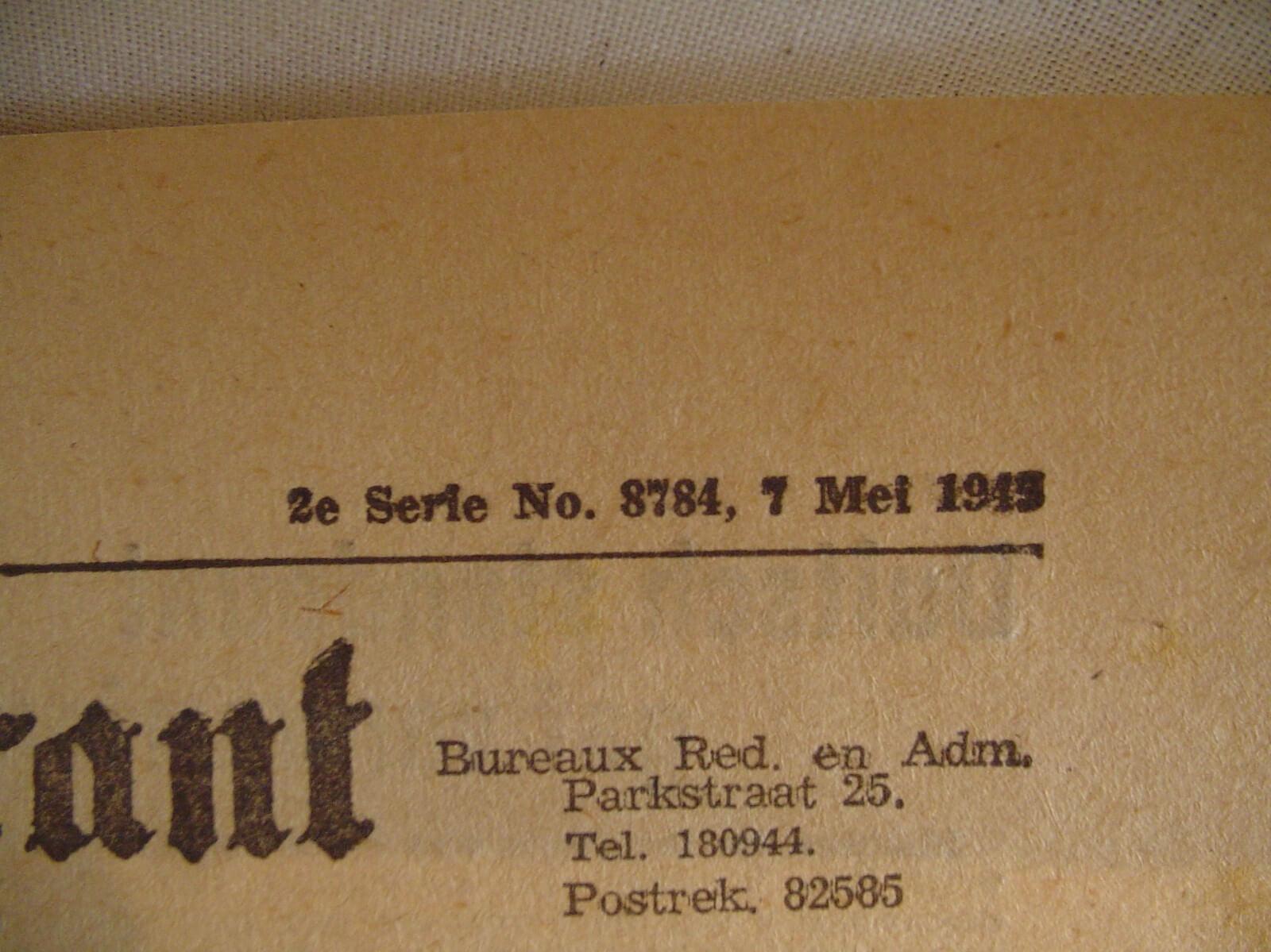 Kranten bevrijding de tweede wereldoorlog krant wo2 mei 1945