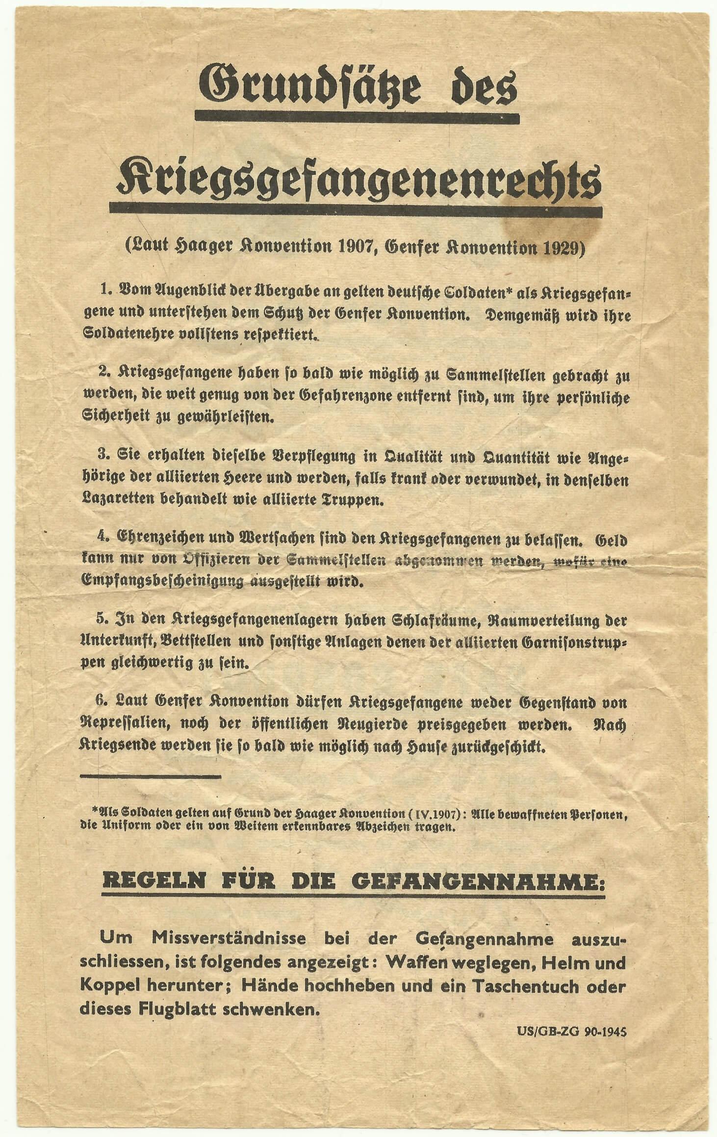 Pamflet uit de tweede wereldoorlog Passierschein wo2 verzameling