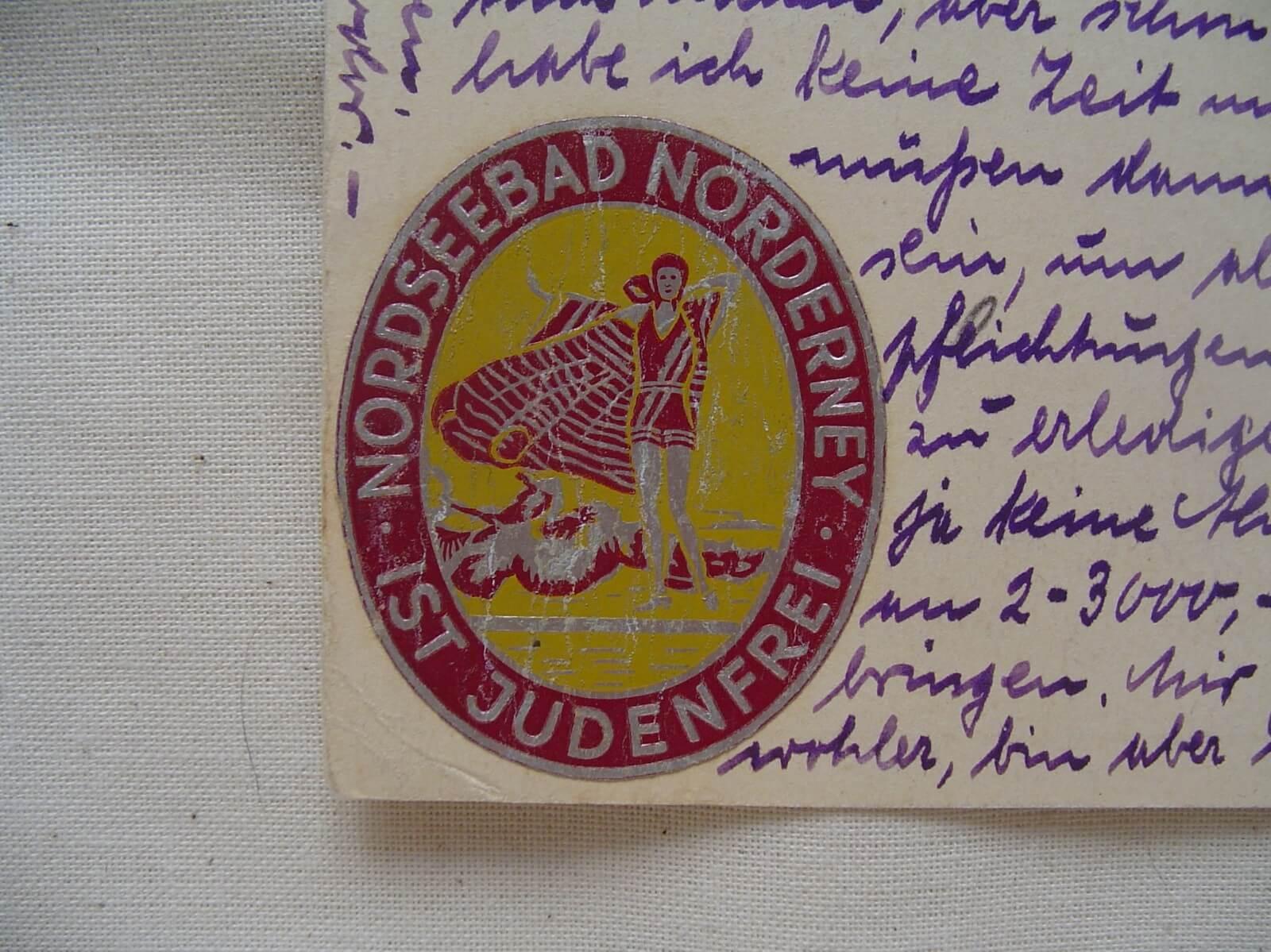 Duitse propaganda postkaart nordseebad norderney