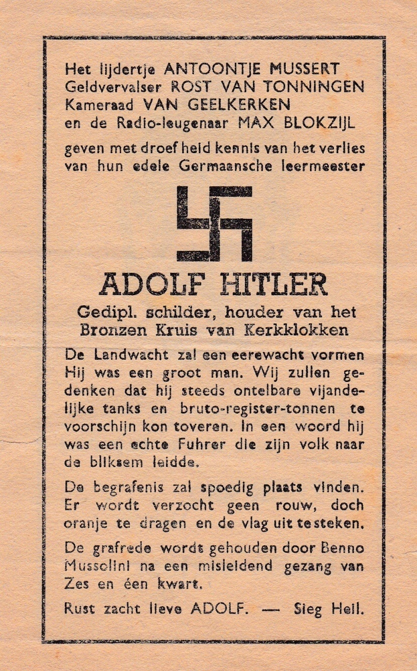 Begrafenis Adolf Hitler Hakenkruis