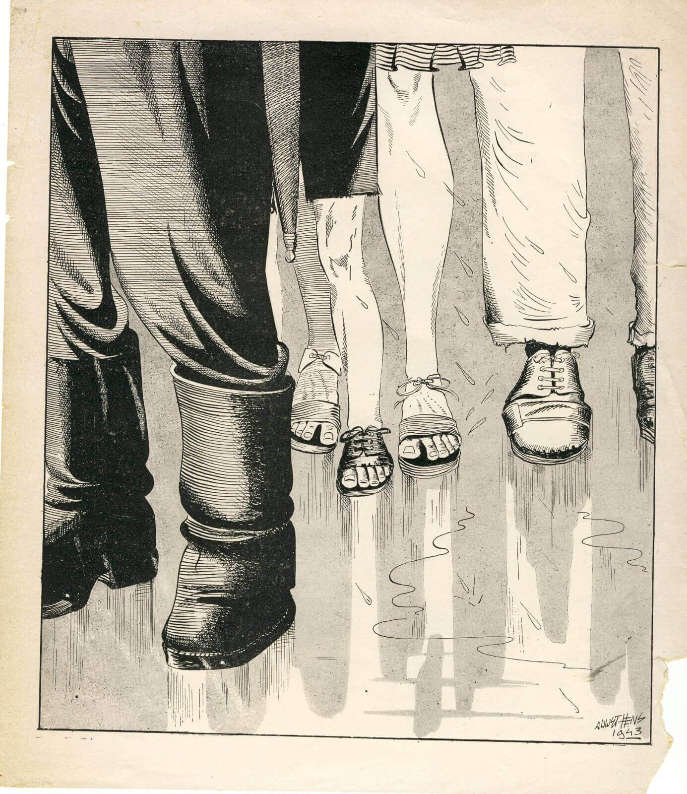 Spotprent hongerwinter 1944 Wo2