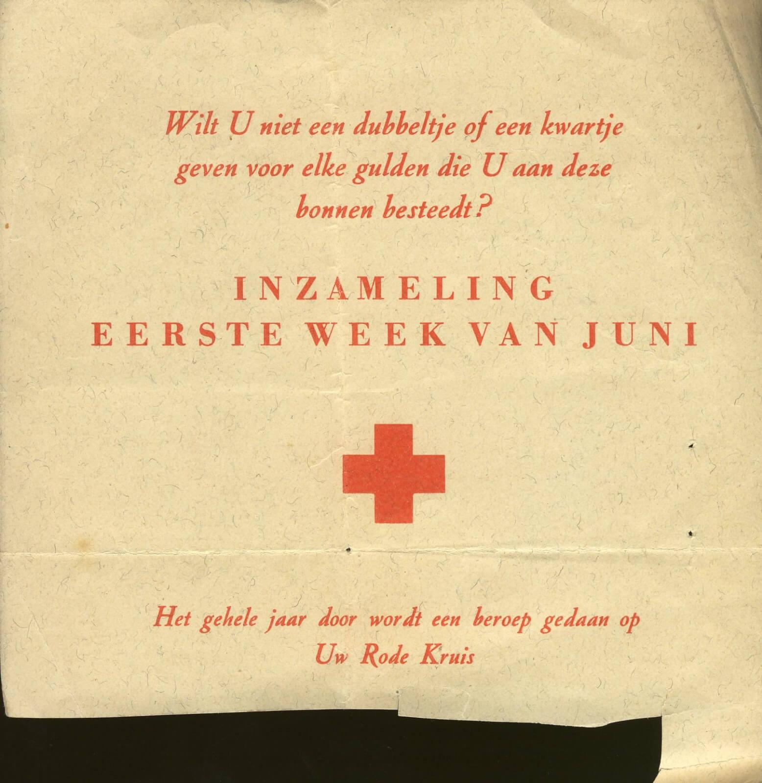 Voedselbonnen na de tweede wereldoorlog wo2 distributie bonnen rode kruis
