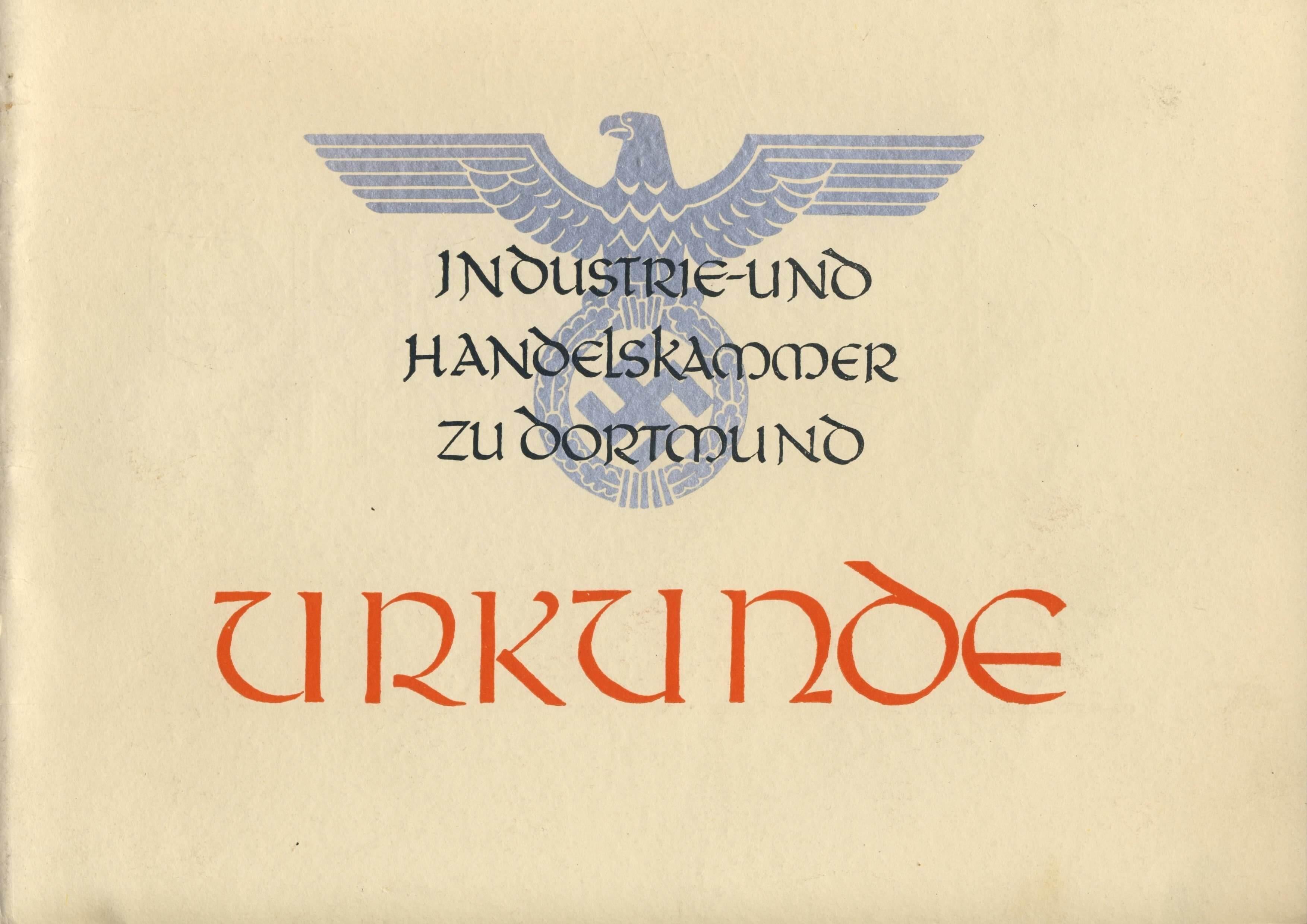 40 jaar in dienst wo2 nazi oorkonde