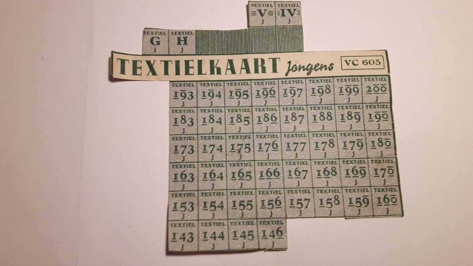 textielkaart jongens tweede wereldoorlog
