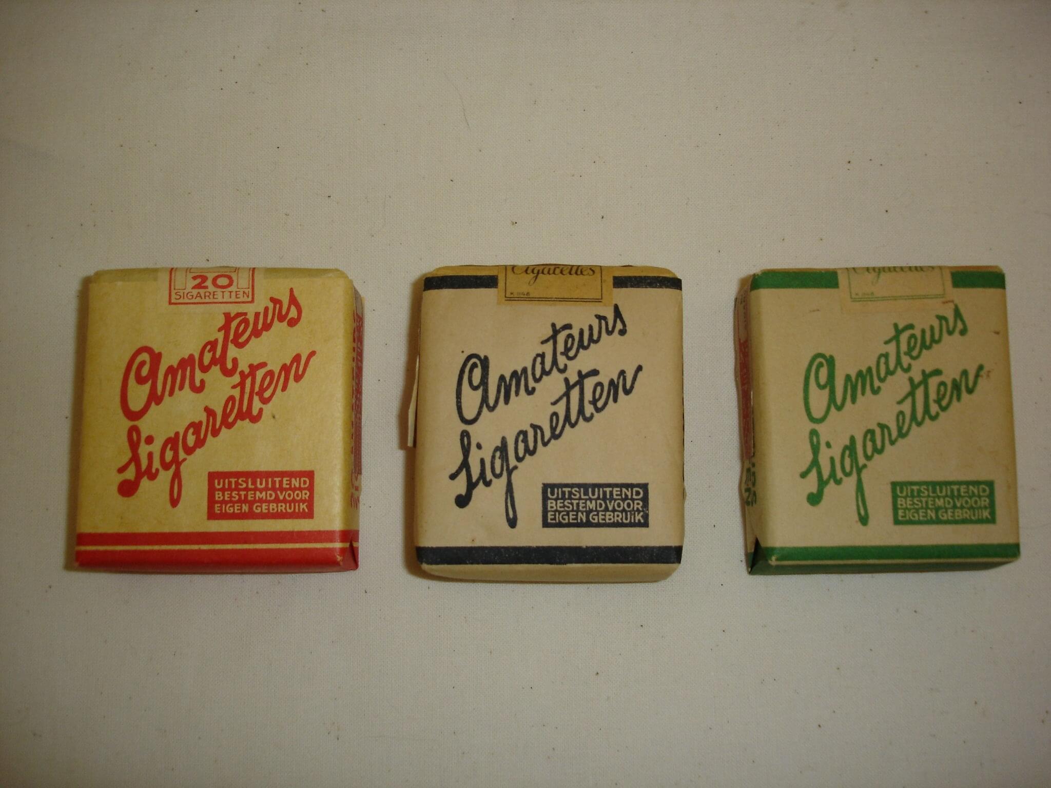 Amateurs sigaretten uit de tweede wereldoorlog