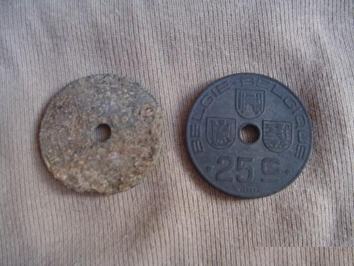Belgisch oorlogs muntje Wo2 de tweede wereldoorlog