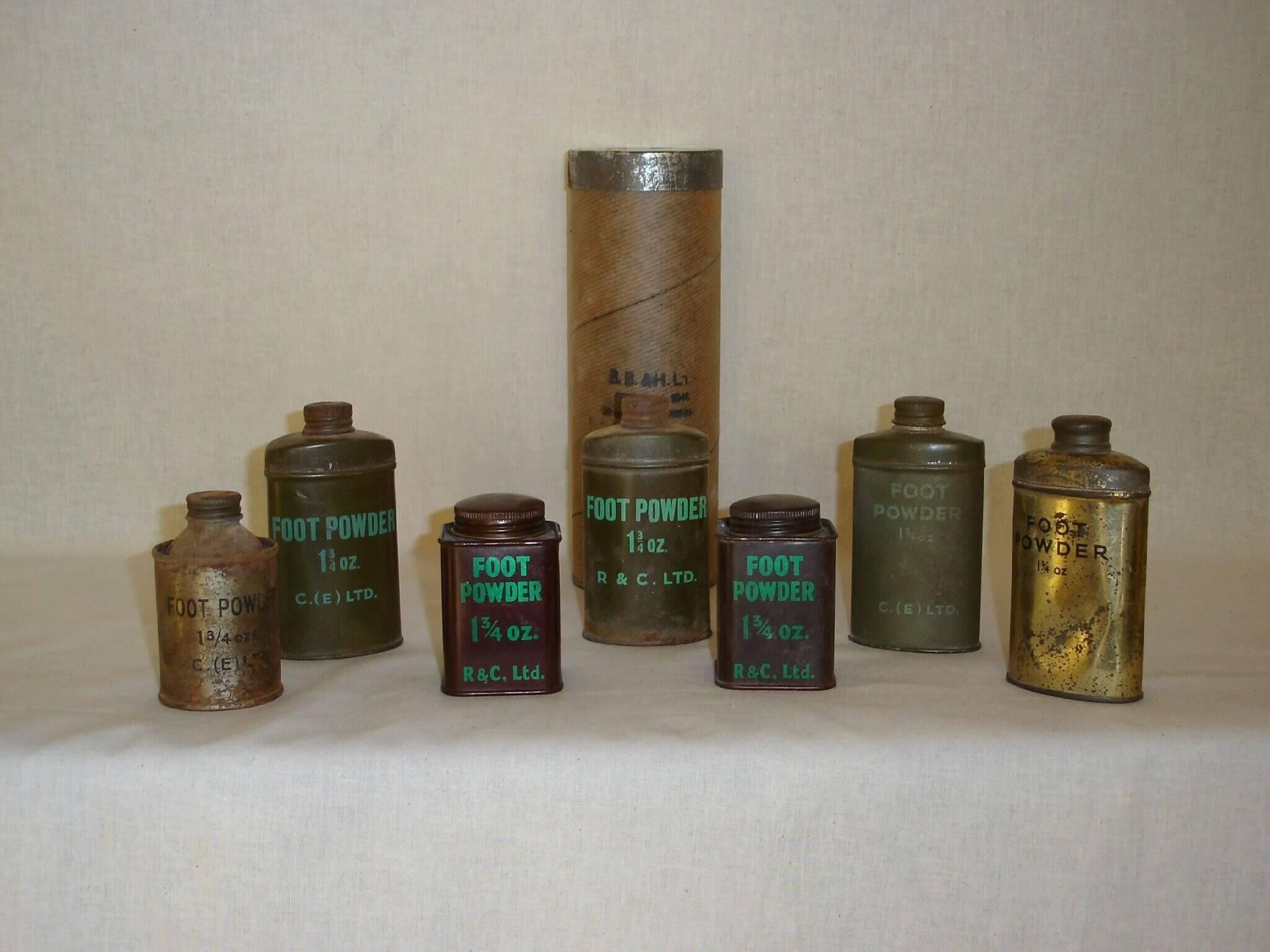 Foot powder uit de tweede wereldoorlog