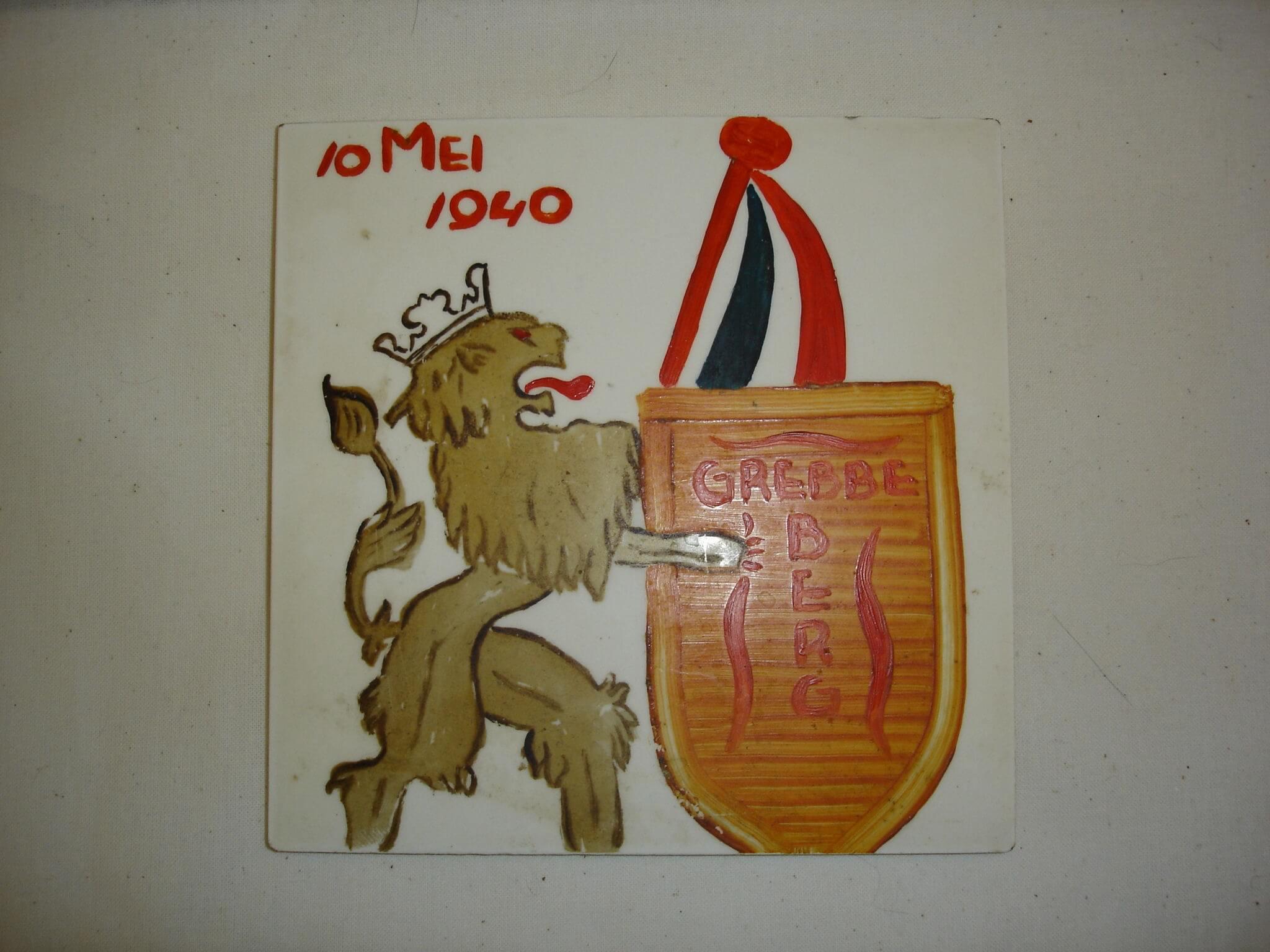 Herdenkingstegel Grebbeberg Wo2