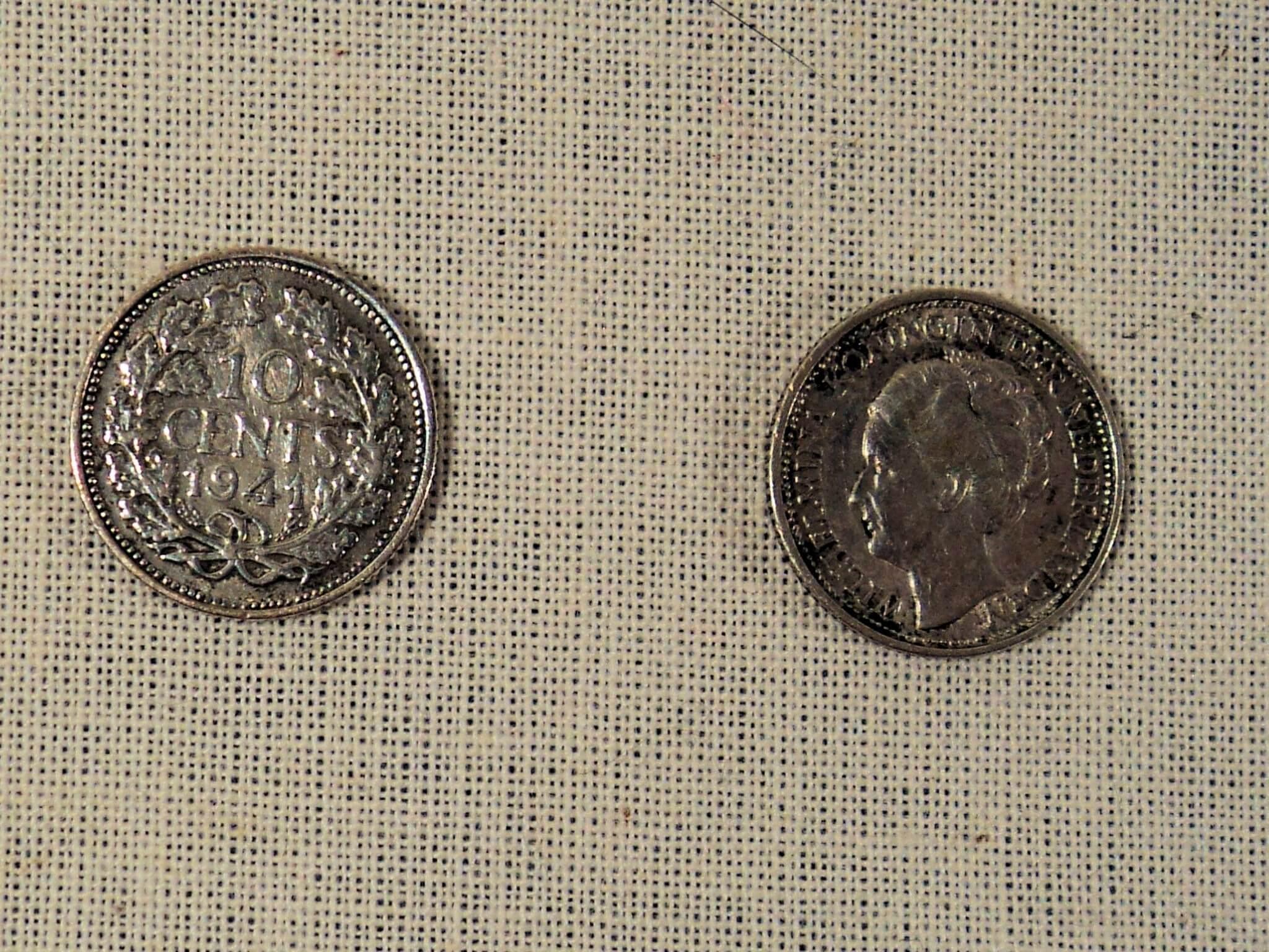 zilveren oorlogs munten uit de tweede wereldoorlog 10 cent 1941