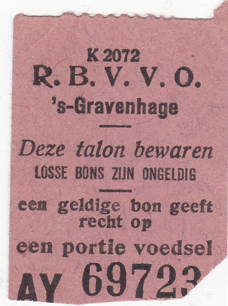 Distributiebonnen gaarkeuken RBVVO