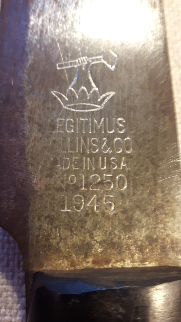Canadian US machete 1945 Legitimus Collins & Co No. 1250 montreal