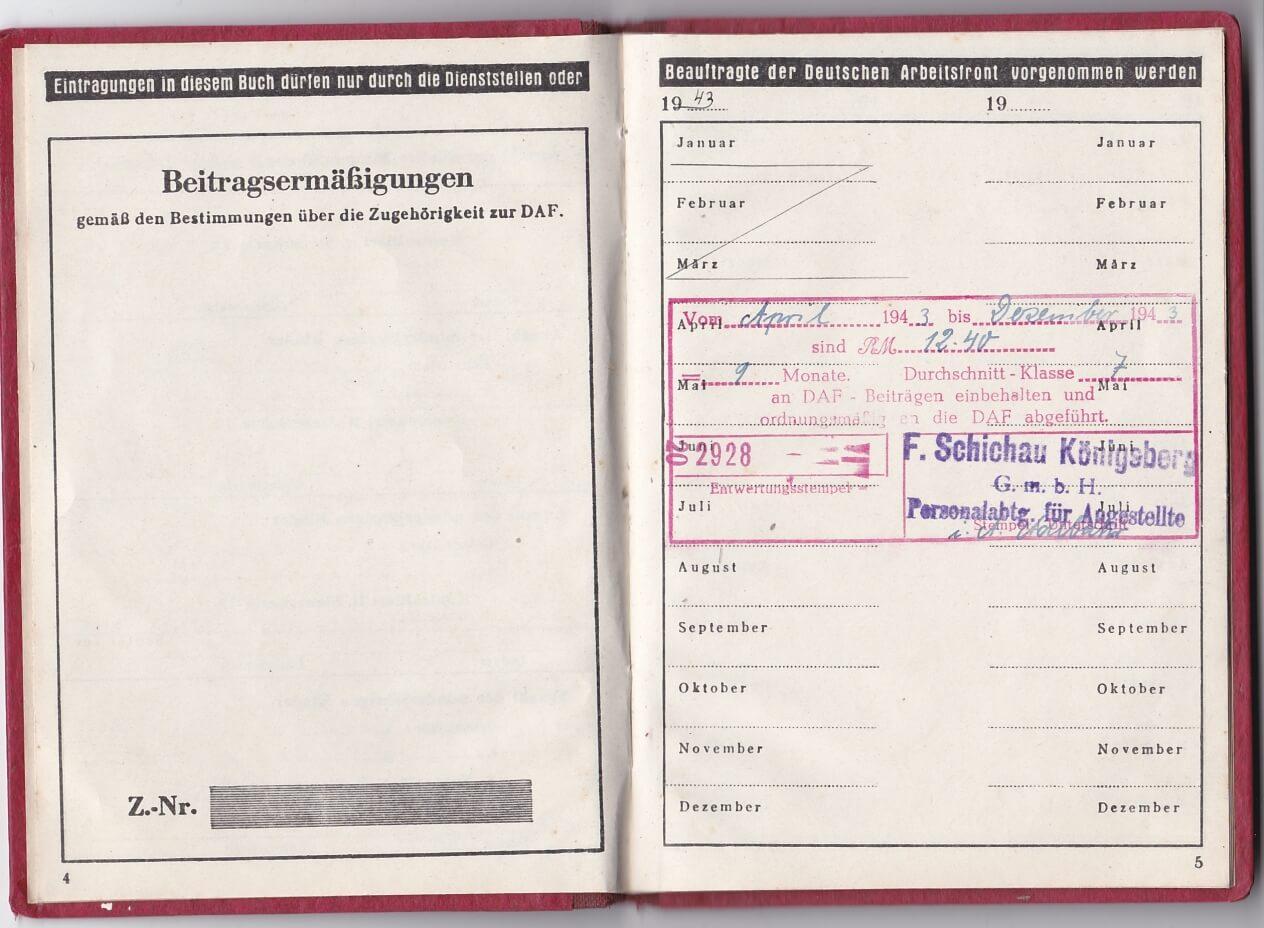 Deutsche Arbeitsfront Gau Konigsberg
