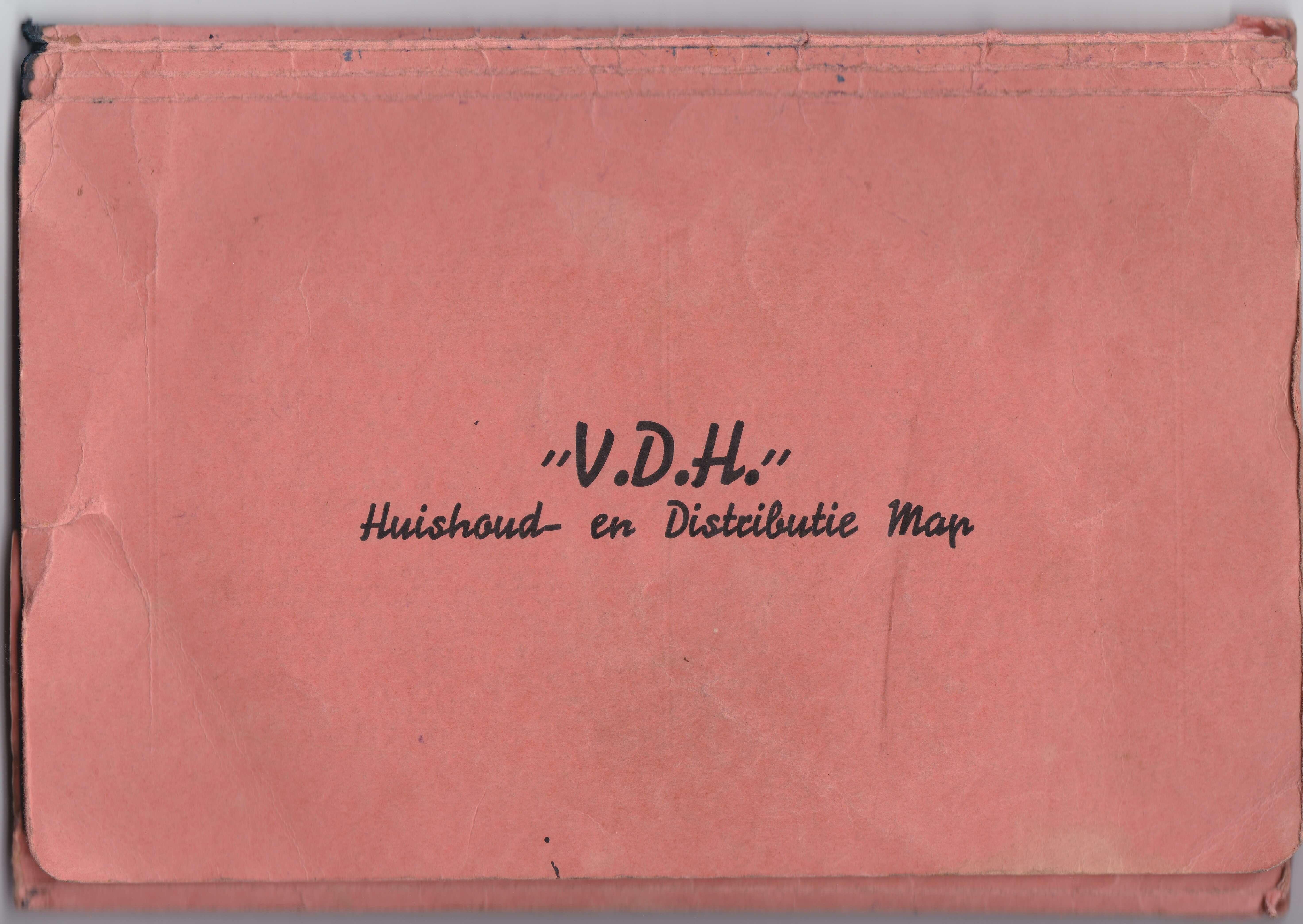 V.D.H. Huishoud en distributie map