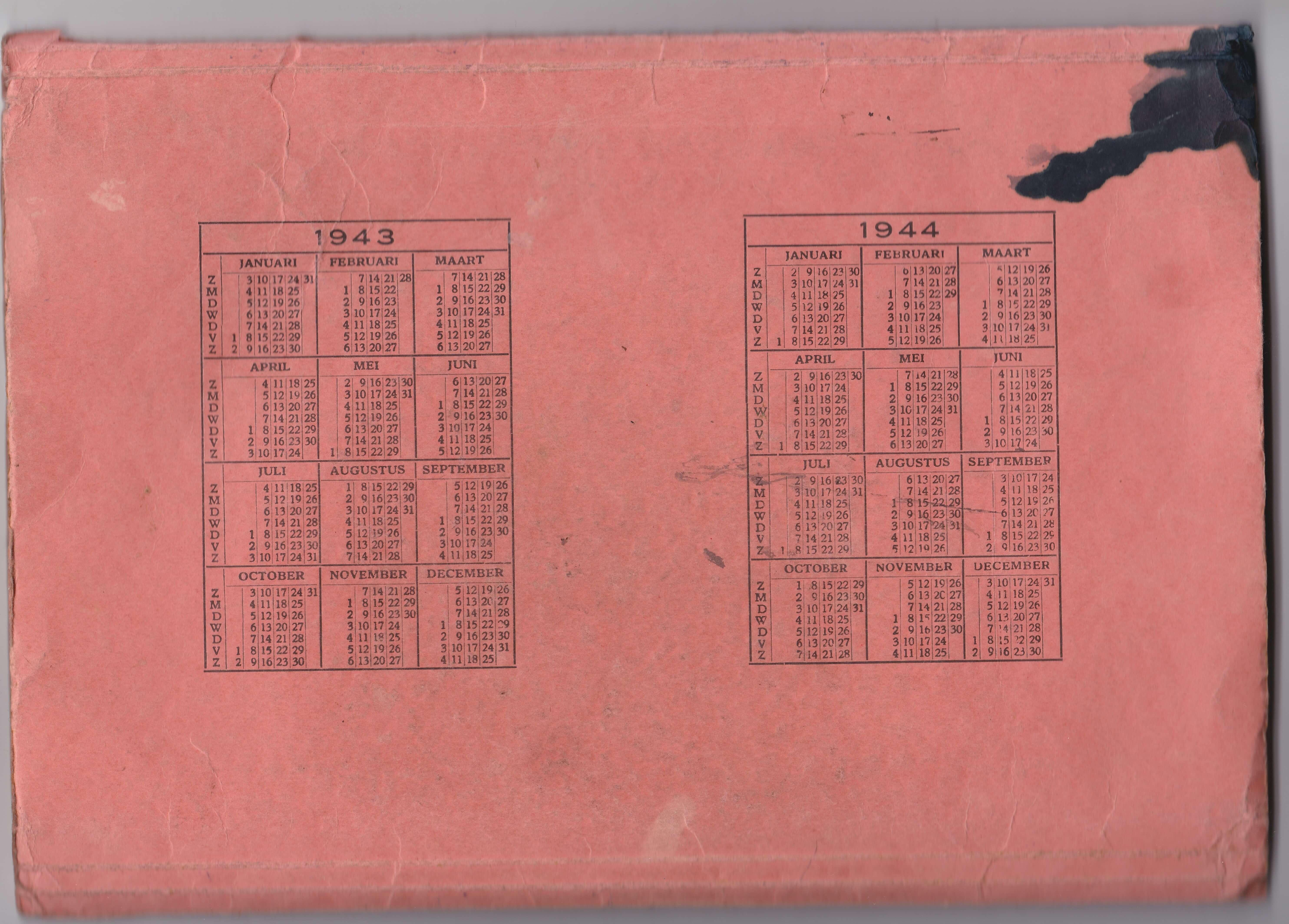 VDH Map voor distributiebonnen tweede wereldoorlog