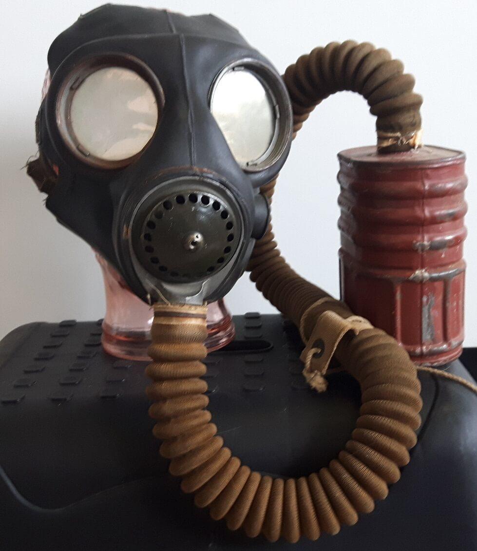 Gasmasker tweede wereldoorlog no4 mark 3